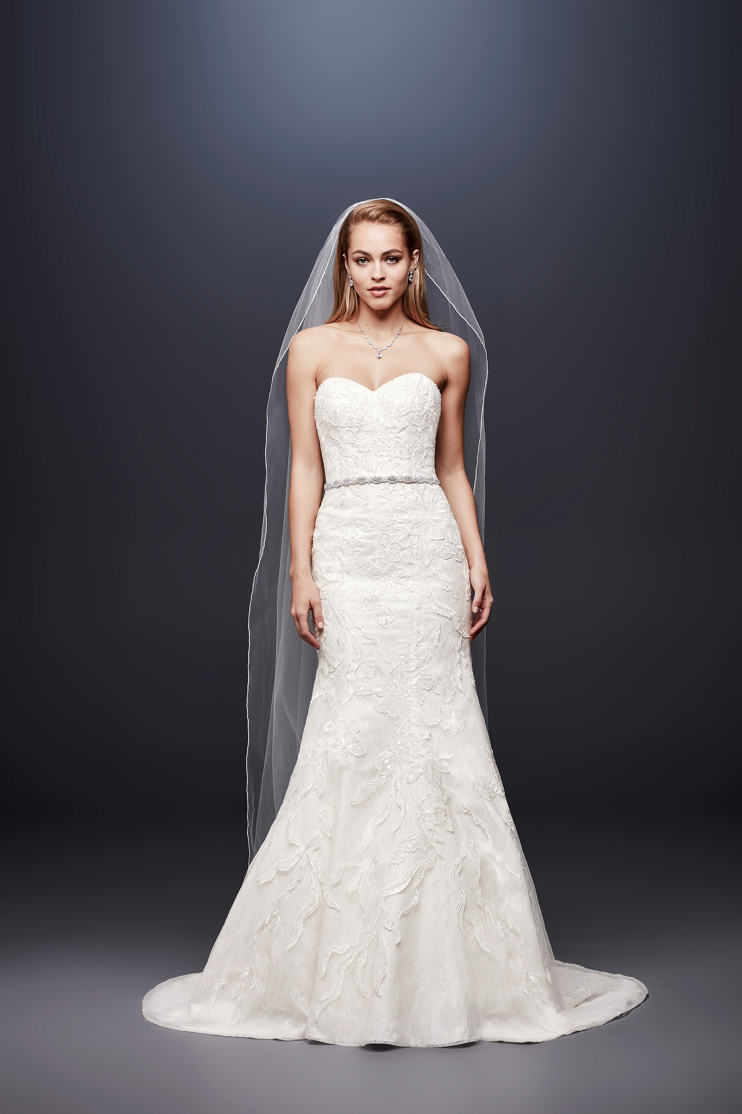 david bridal wedding dress spring 2019 trumpet lace sweatheart
