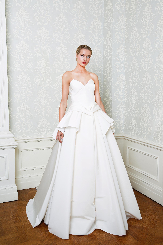Cristina Ottaviano wedding dress spring 2019 sweetheart neckline tier skirt ballgown