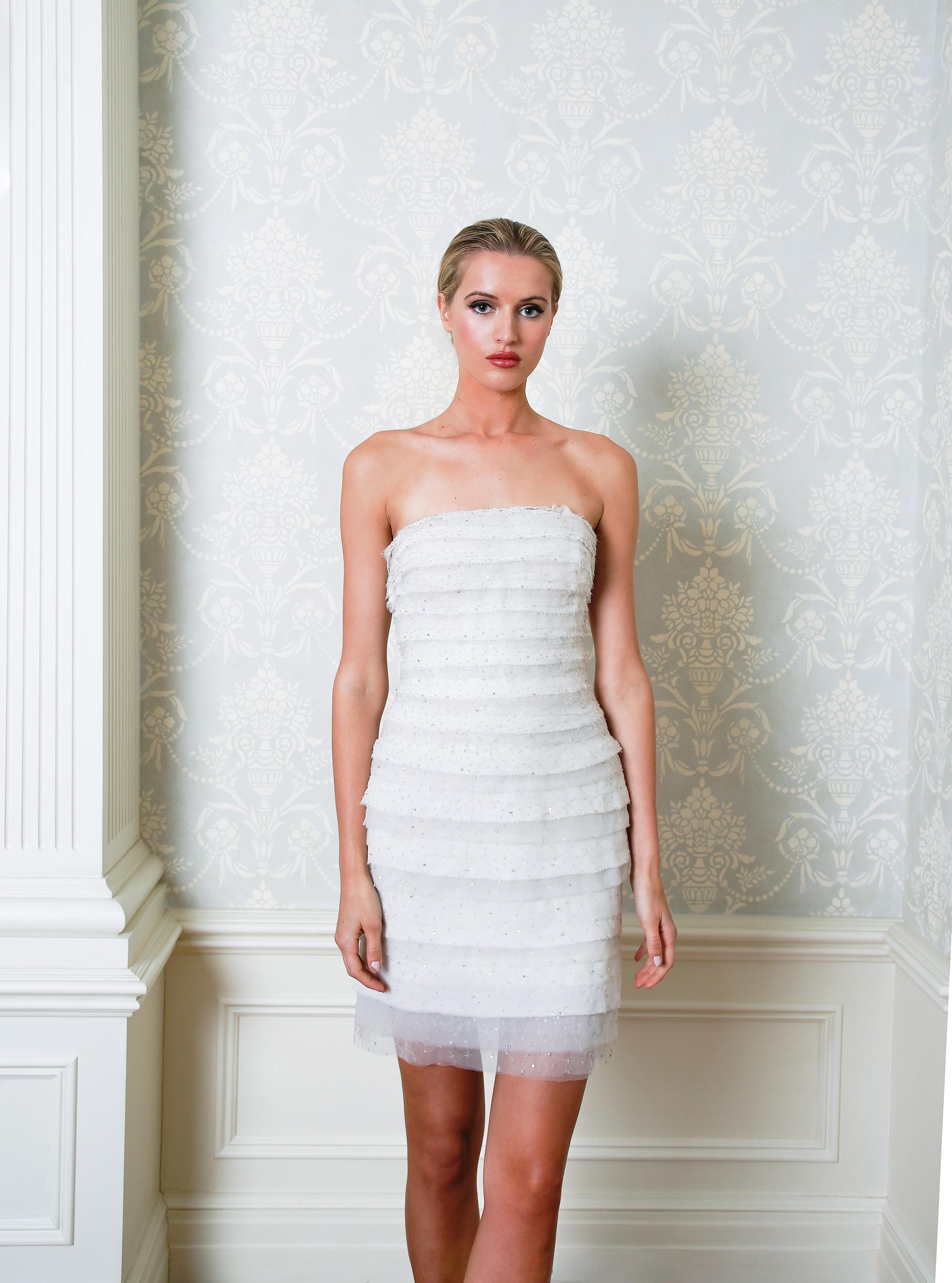 Cristina Ottaviano wedding dress spring 2019 short layered sheath