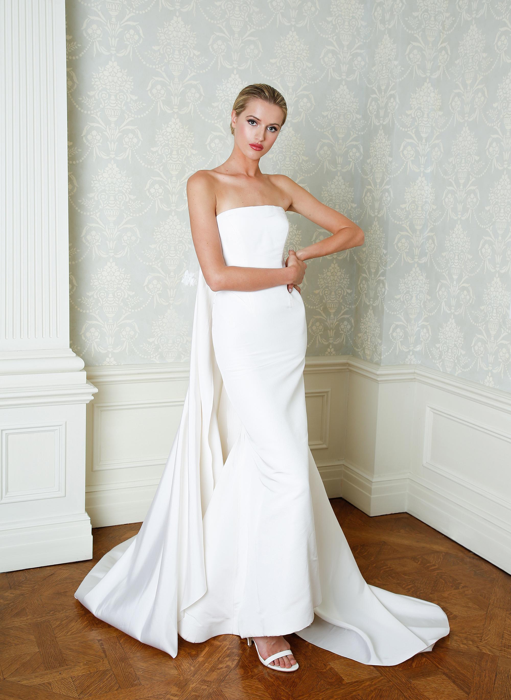 Cristina Ottaviano wedding dress spring 2019 minimalist strapless mermaid gown