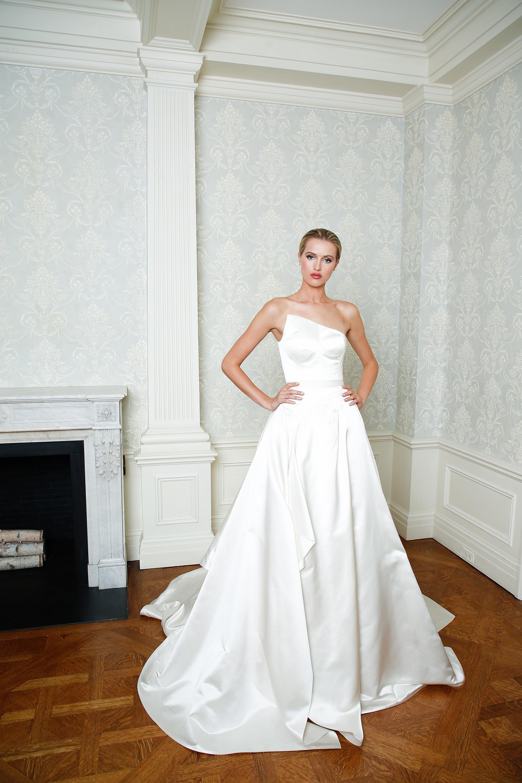 Cristina Ottaviano wedding dress spring 2019 asymmetrical ballgown