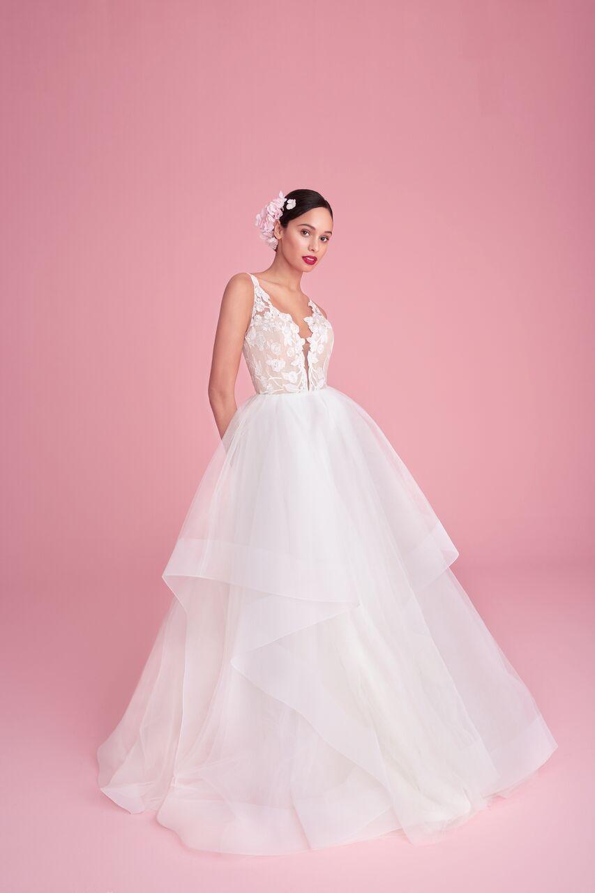 "blush by hayley paige ""iris"" wedding dress spring 2019"