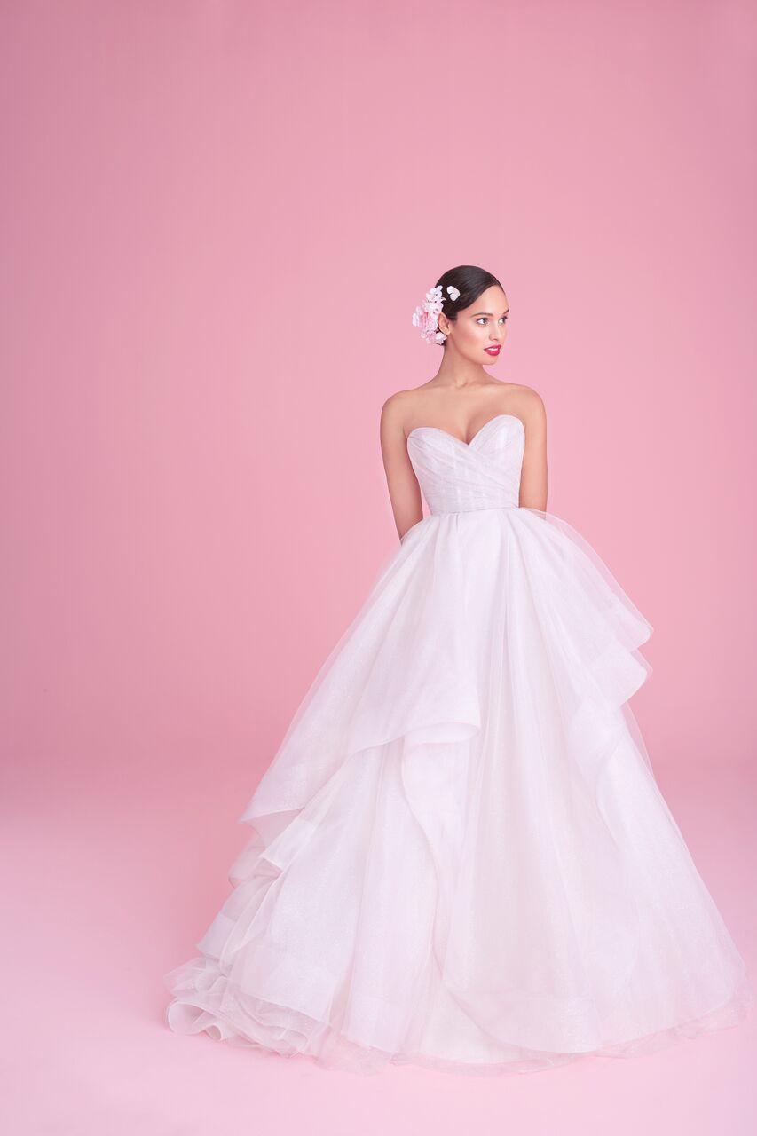 "blush by hayley paige""romee"" wedding dress spring 2019"