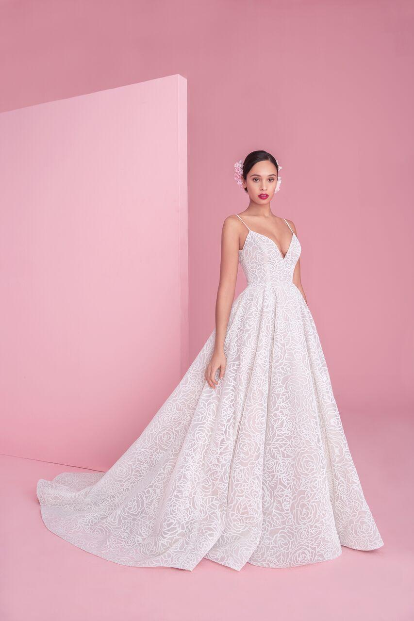 "blush by hayley paige ""jardin"" wedding dress spring 2019"