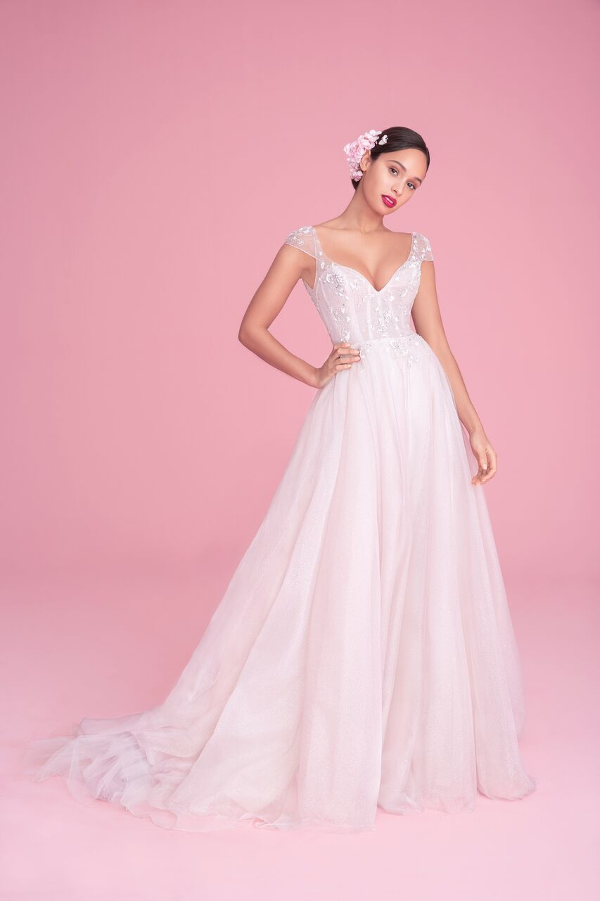 """blush by hayley paige """"amour"""" wedding dress spring 2019"""