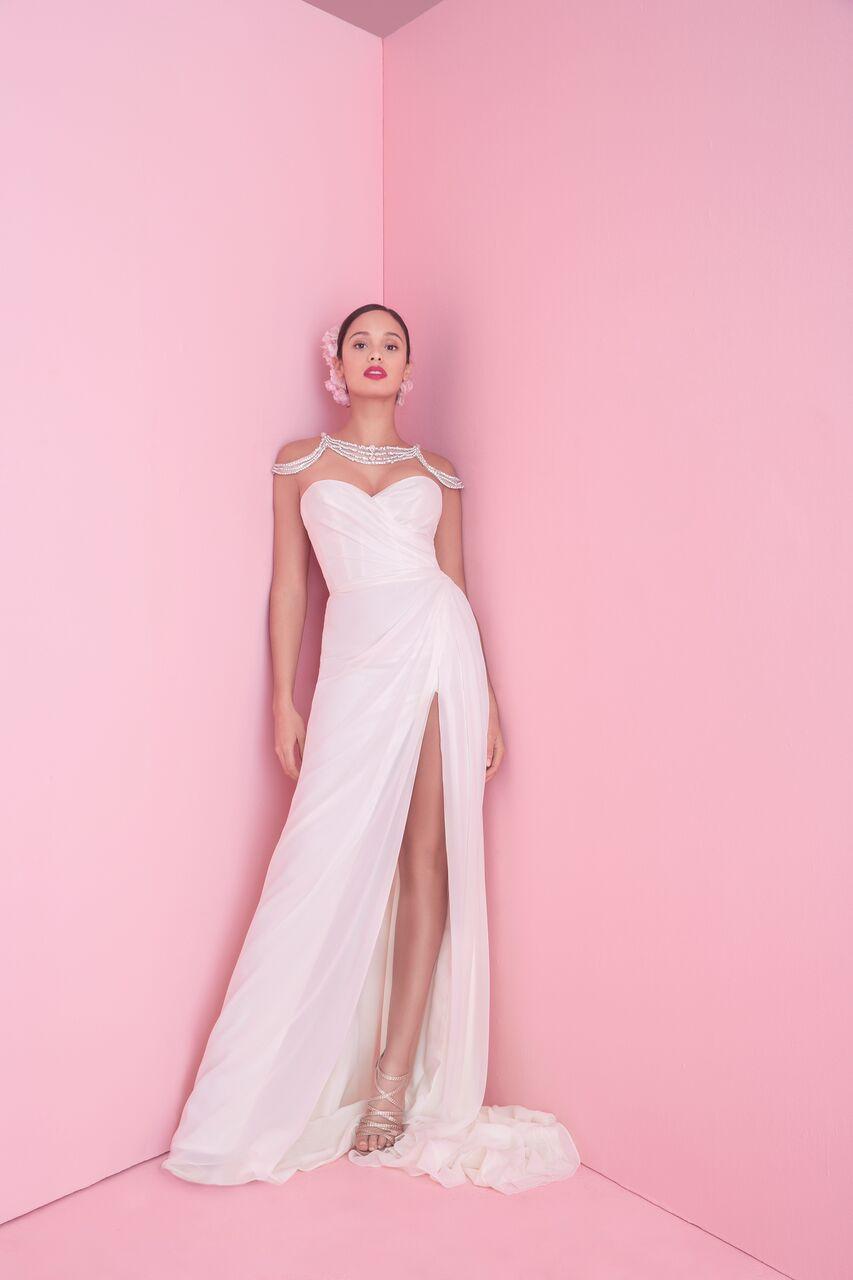 "blush by hayley paige ""vita"" wedding dress spring 2019"