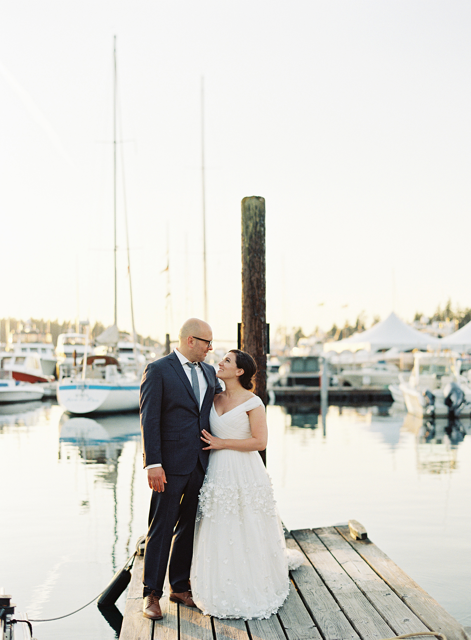 cassandra jason wedding couple on dock