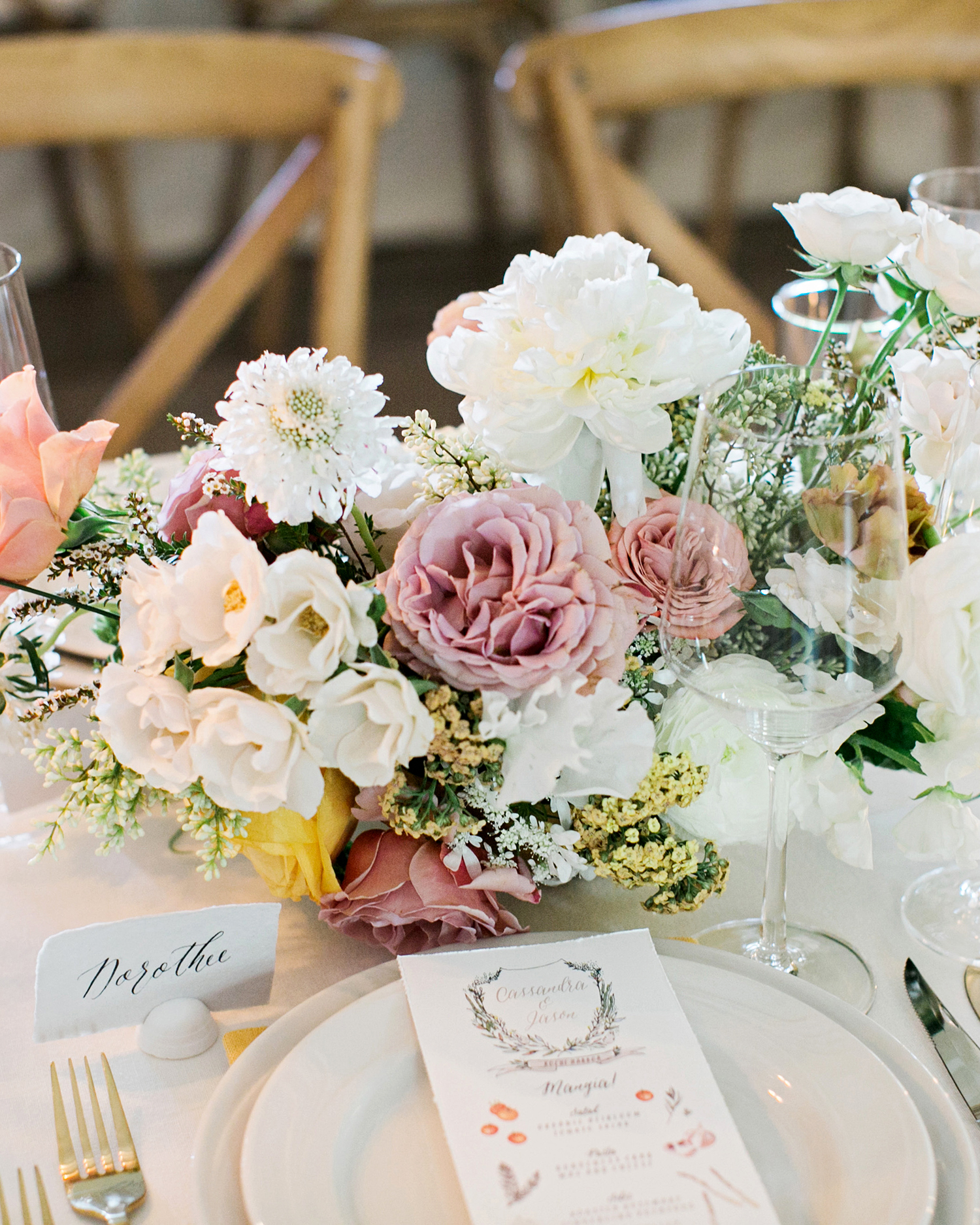cassandra jason wedding centerpiece
