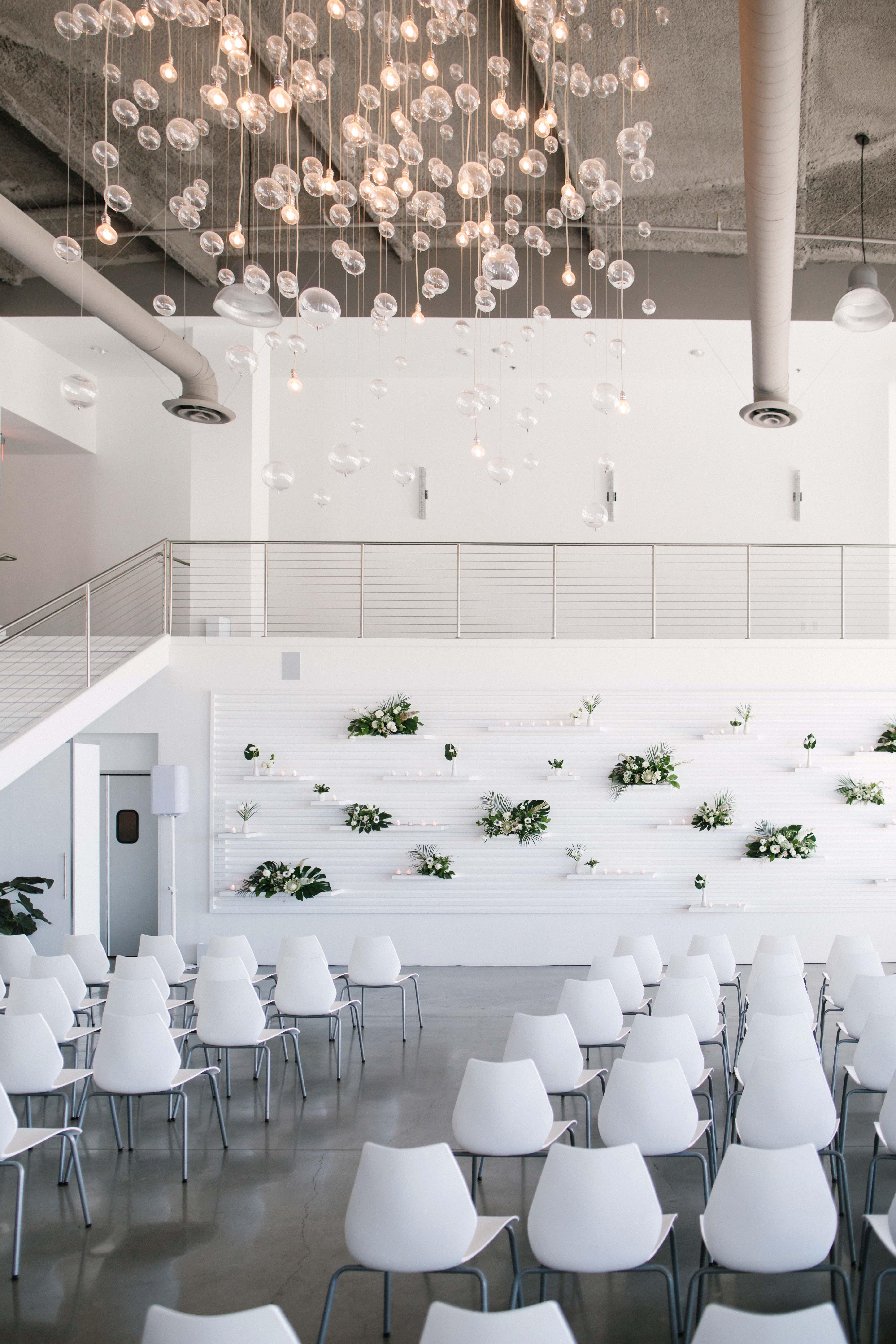 modern wedding seating arrangement