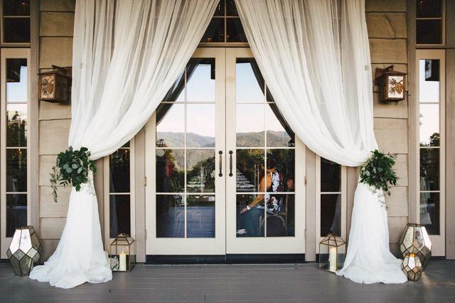 modern wedding dressed-up doors