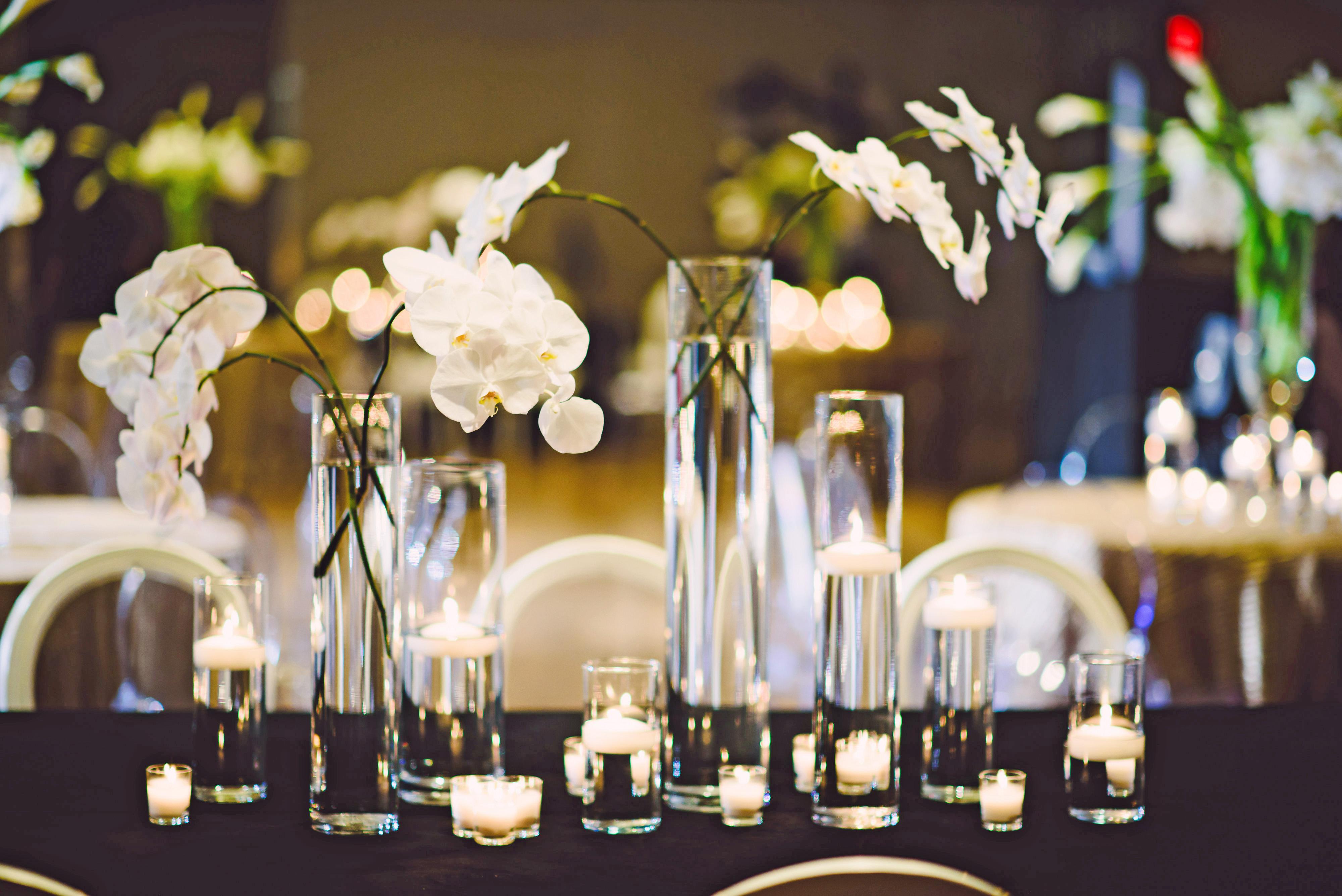modern wedding structured florals