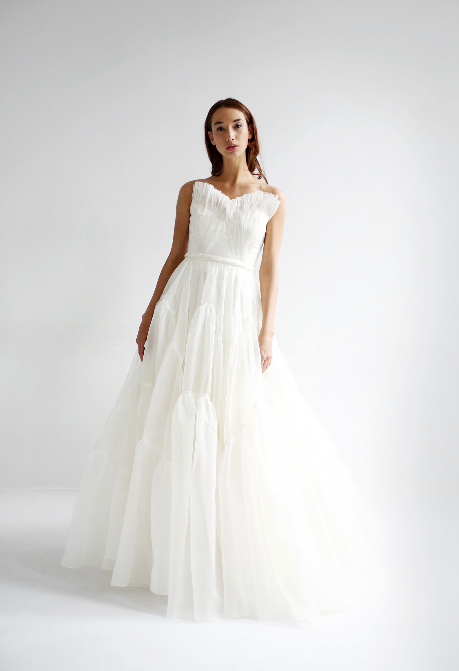 leanne marshall wedding dress spring 2019 strapless ruffles a-line