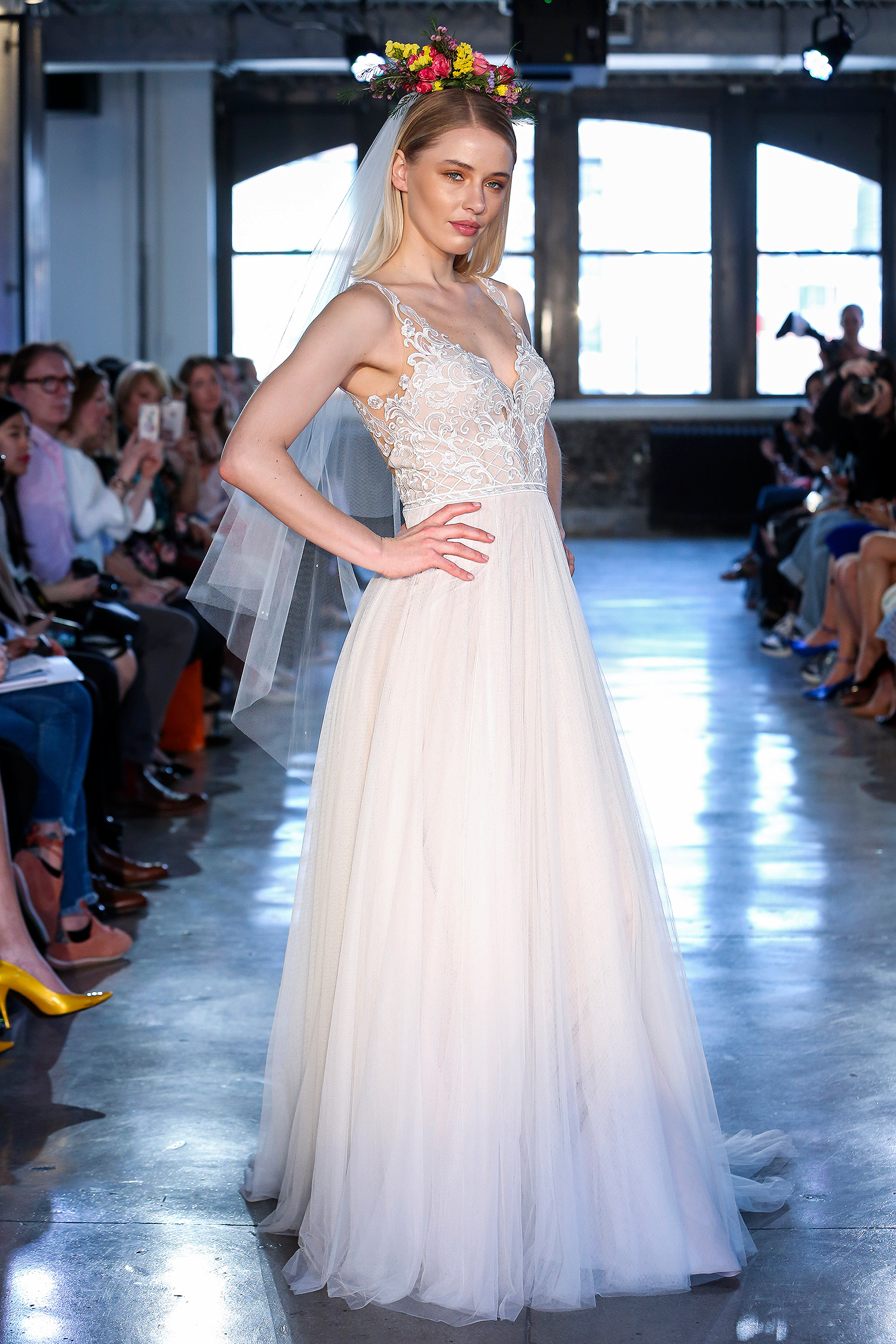 wtoo watters wedding dress spring 2019 v-neck a-line lace bodice