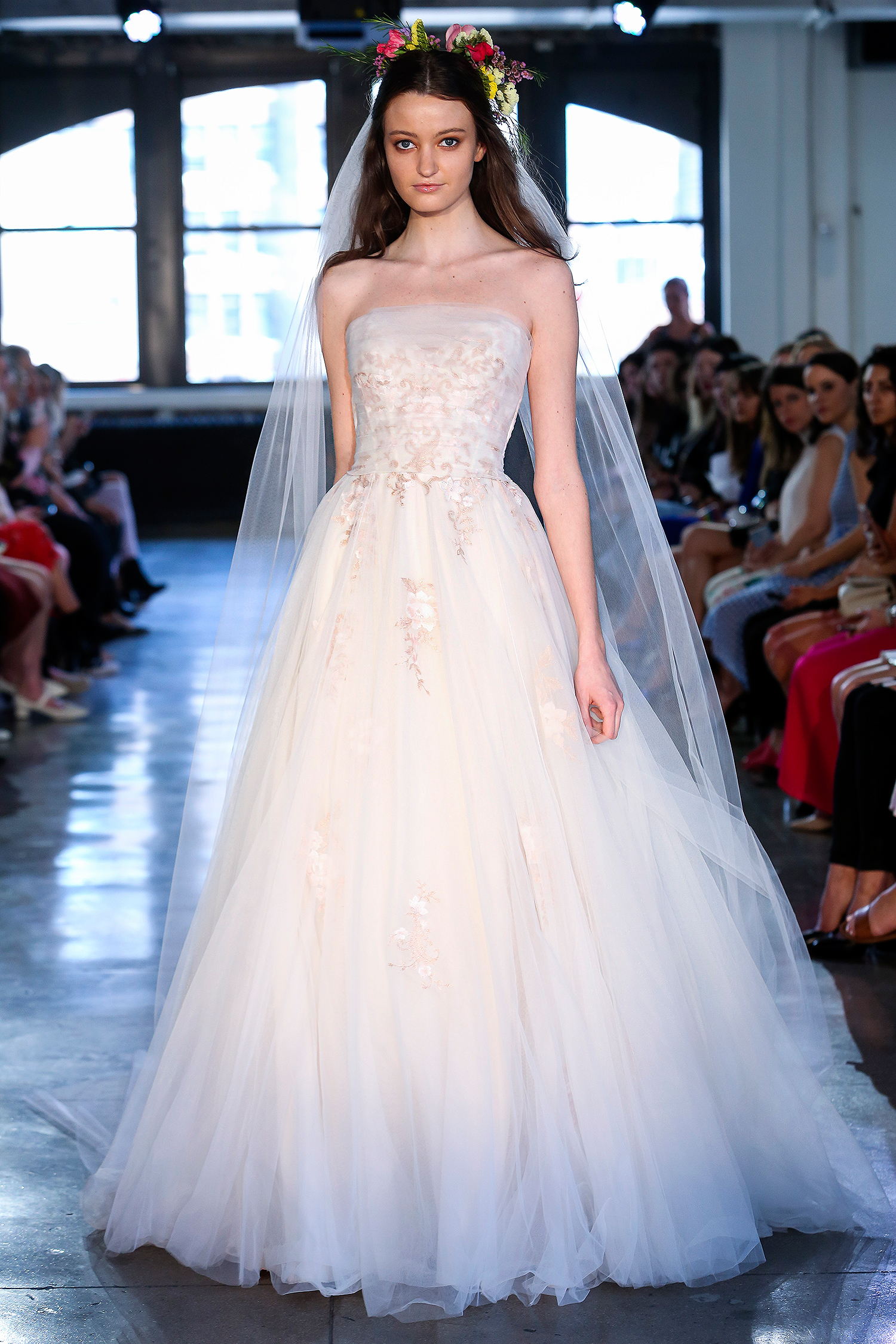 wtoo watters wedding dress spring 2019 strapless layered tulle ball gown
