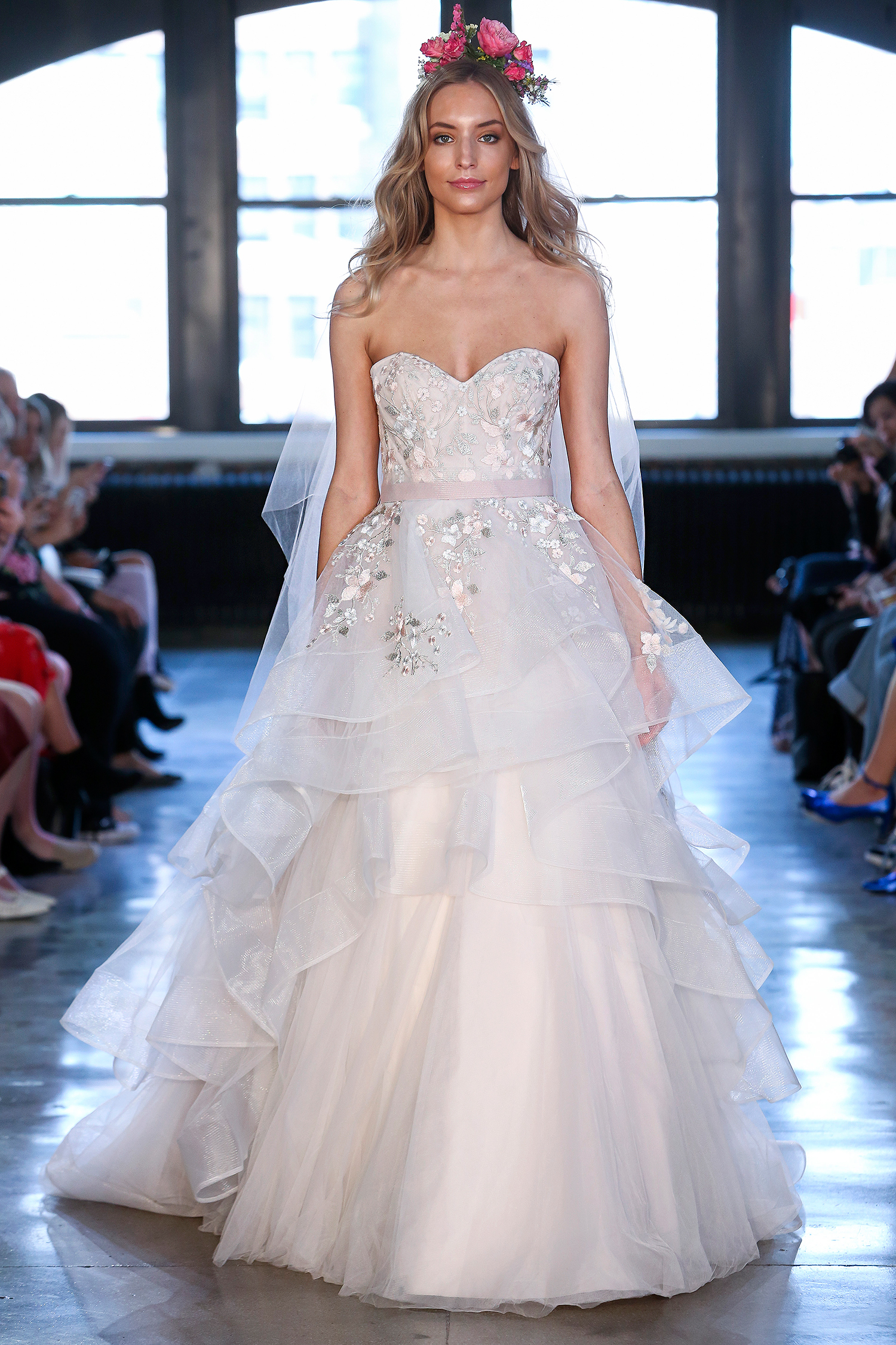 wtoo watters wedding dress spring 2019 sweetheart embellished tiered ball gown