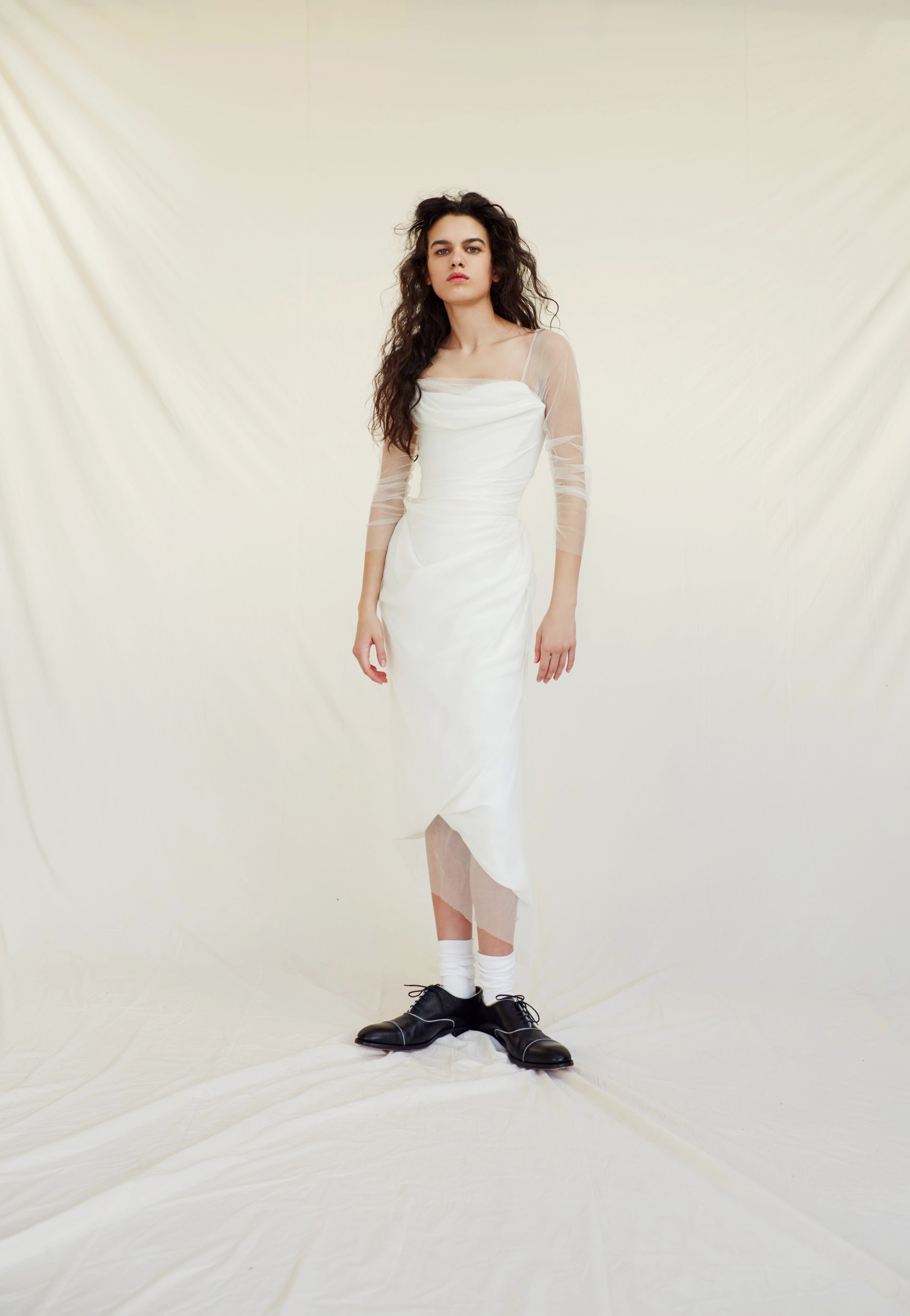 vivienne westwood wedding dress Spring 2019 tea length a-line