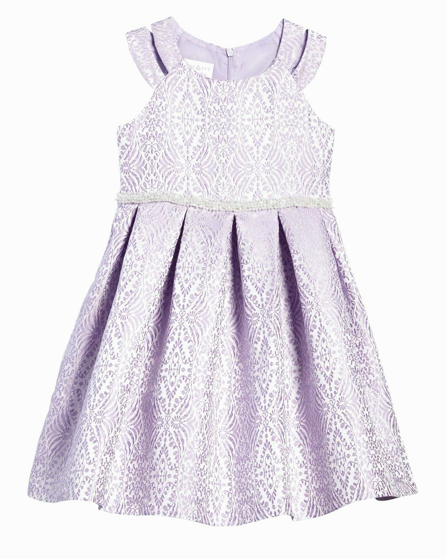 Iris & Ivy Jacquard Fit-And-Flare Dress
