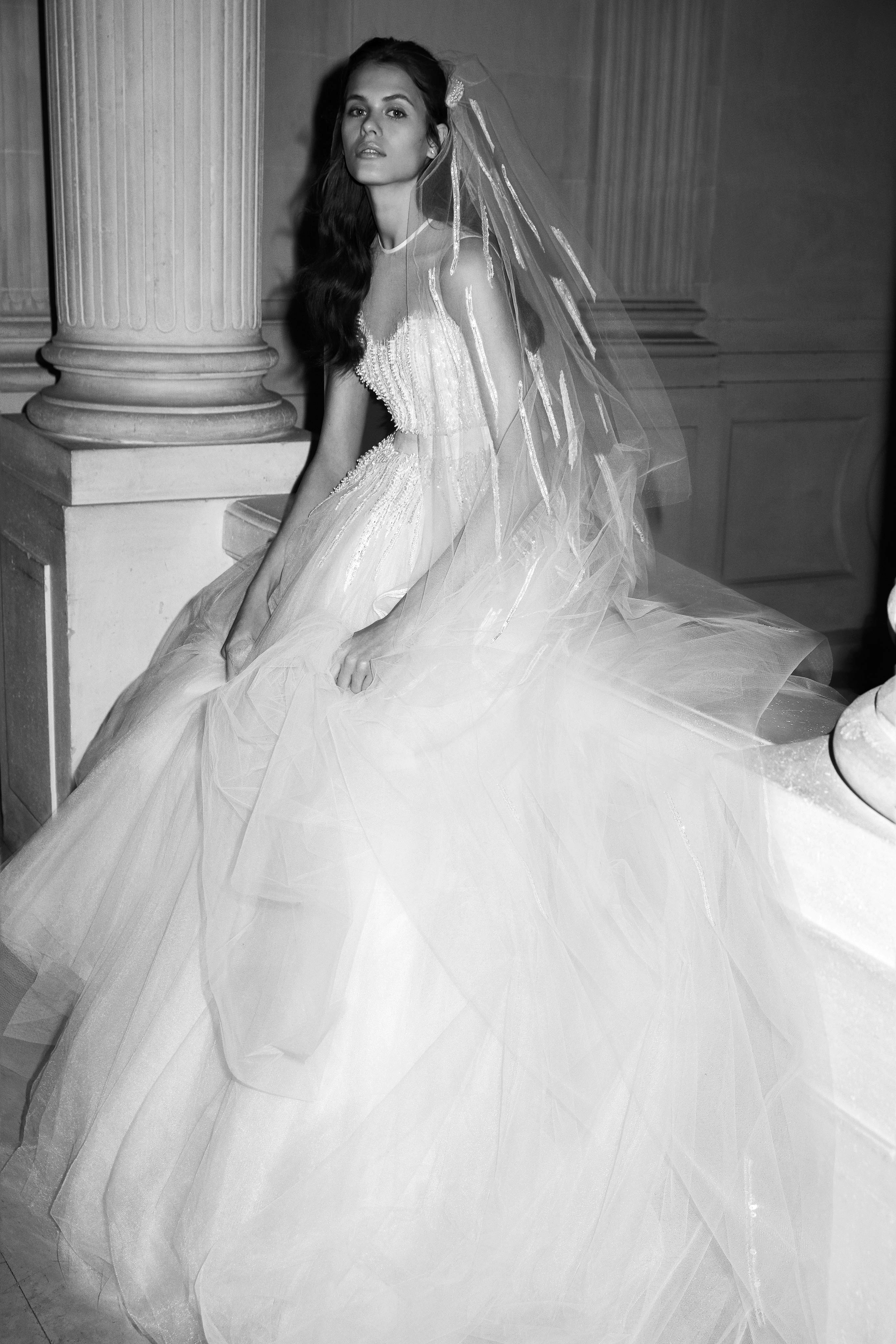elie saab wedding dress spring 2019 ball gown tulle illusion sleeveless