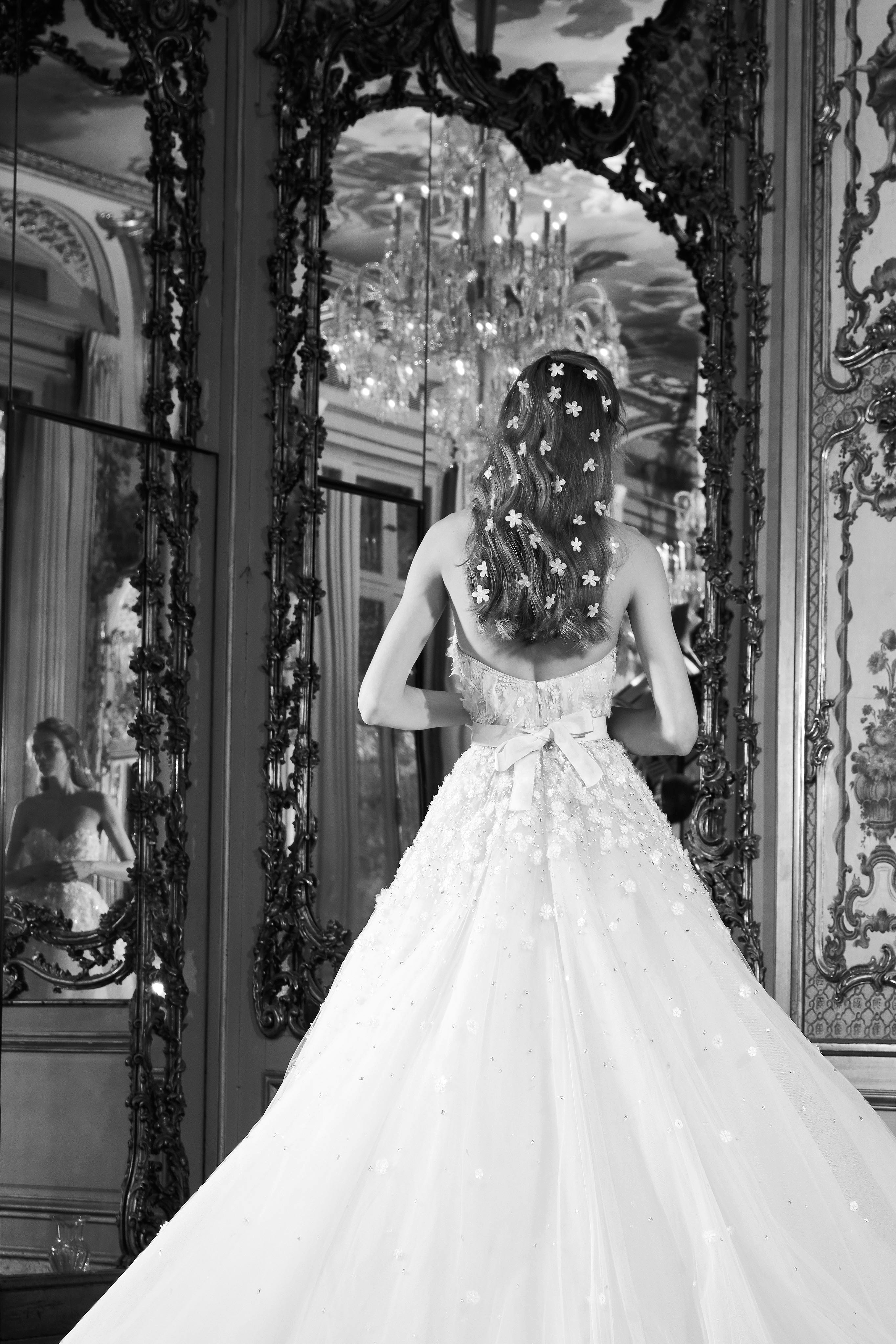 elie saab wedding dress spring 2019 strapless embellished bow
