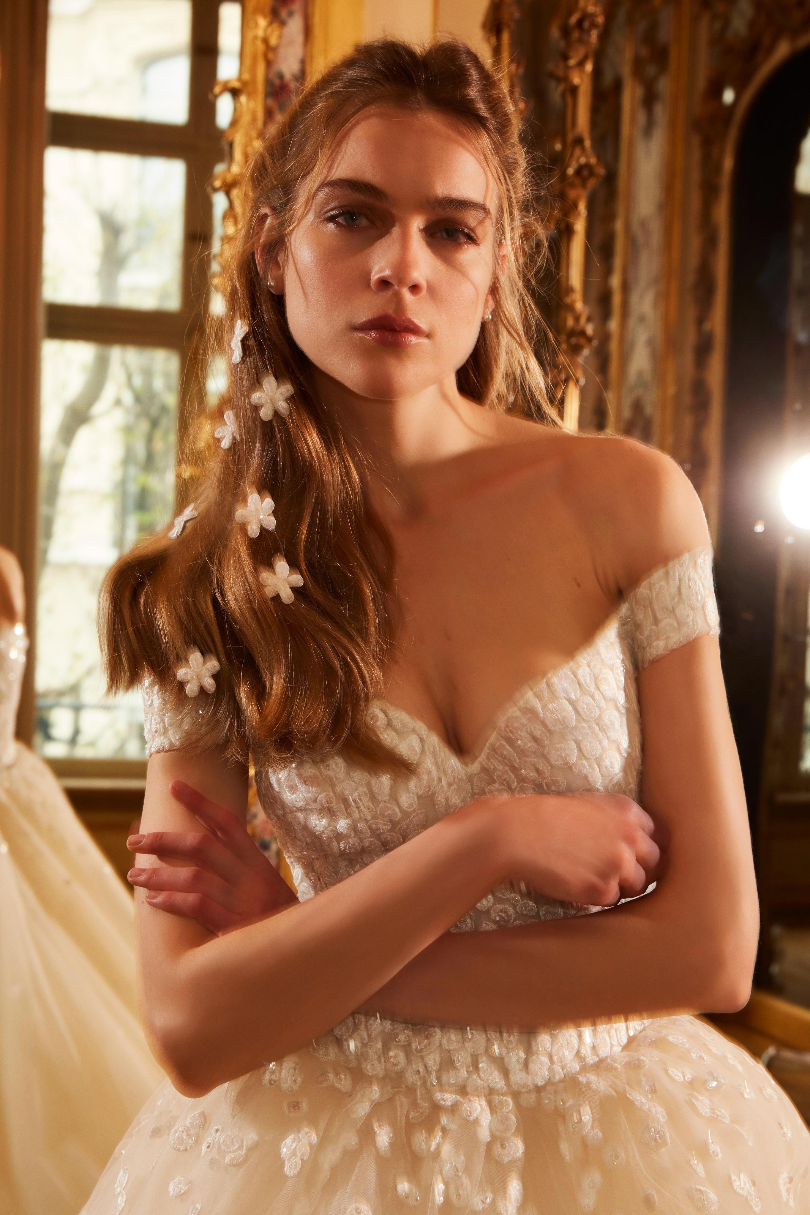 elie saab wedding dress spring 2019 off the shoulder embellished