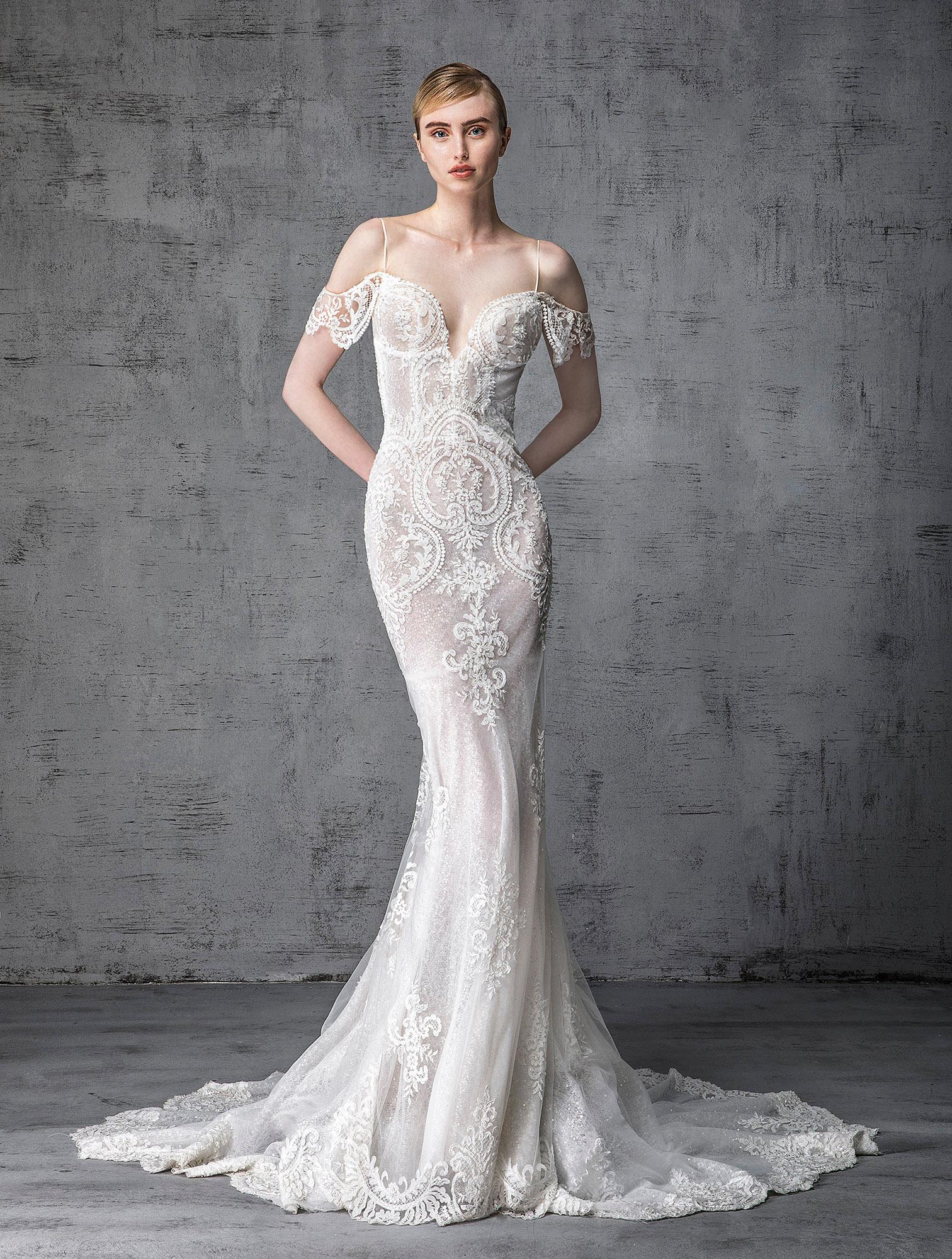 victoria kyriakides wedding dress spring 2019 spaghetti-strap off-the-shoulder