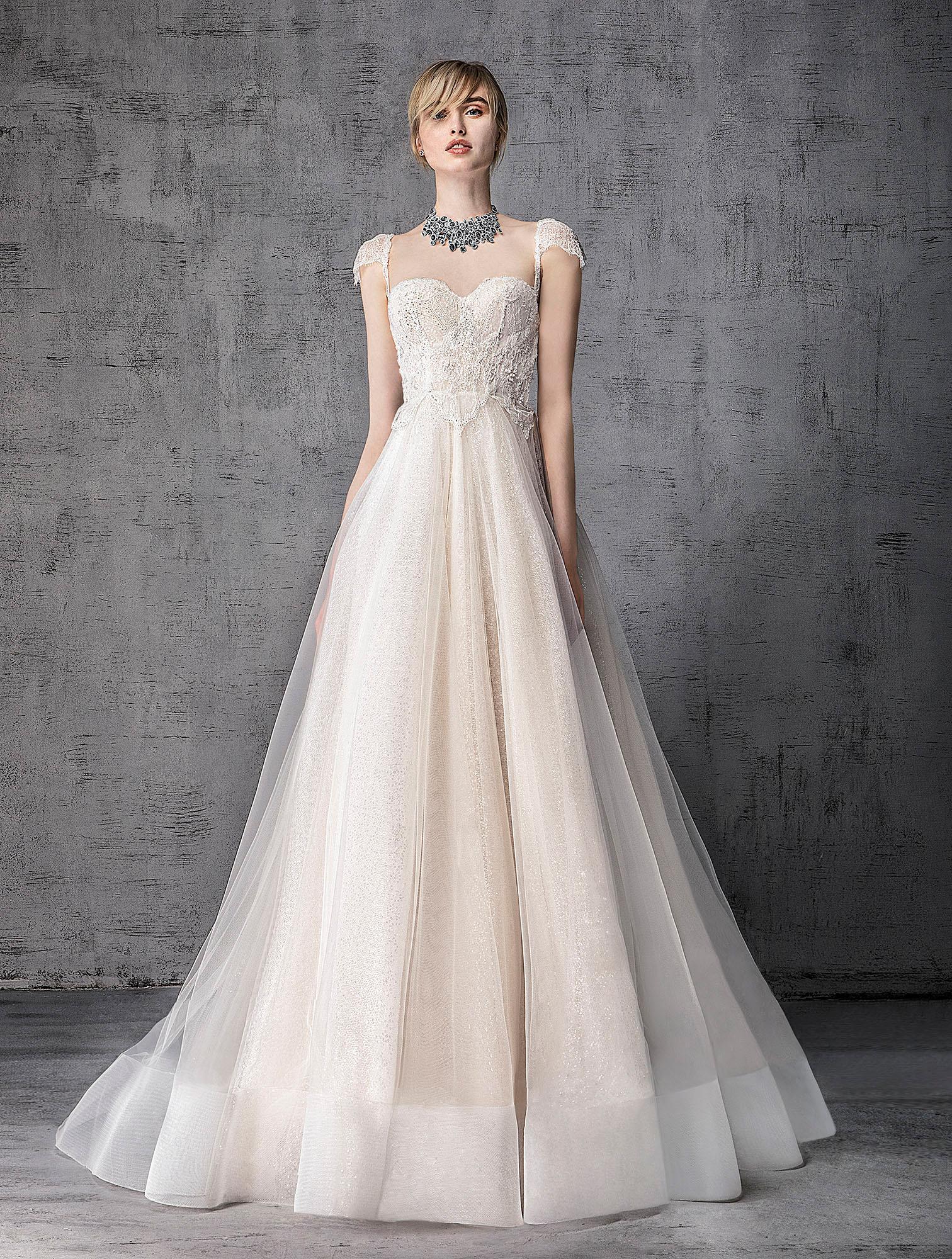 victoria kyriakides wedding dress spring 2019 sweetheart cap-sleeve a-line