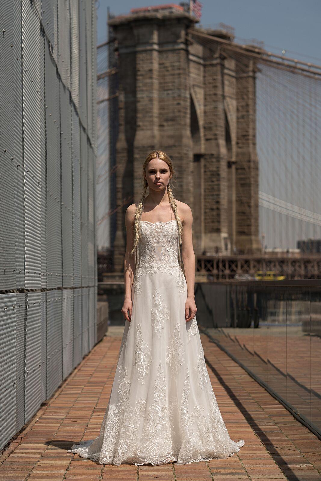 """alyne by rita vinieris """"earhart"""" wedding dress spring 2019"""