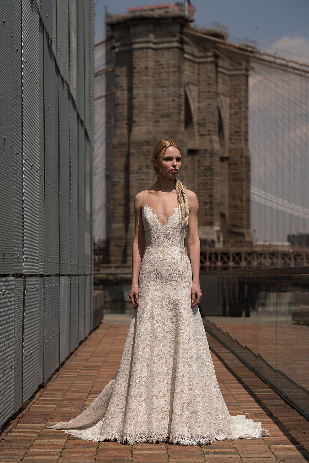 "alyne by rita vinieris ""garbo"" wedding dress spring 2019"