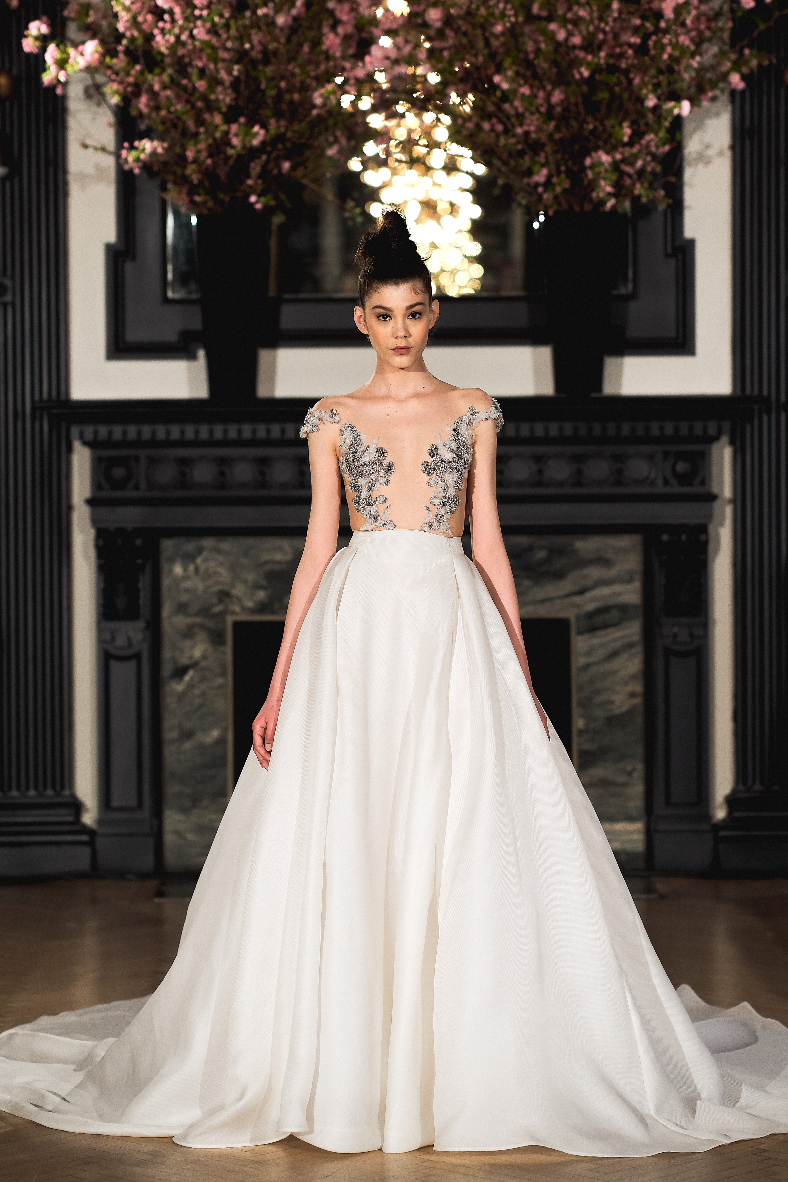 ines di santo wedding dress spring 2019 a-line illusion