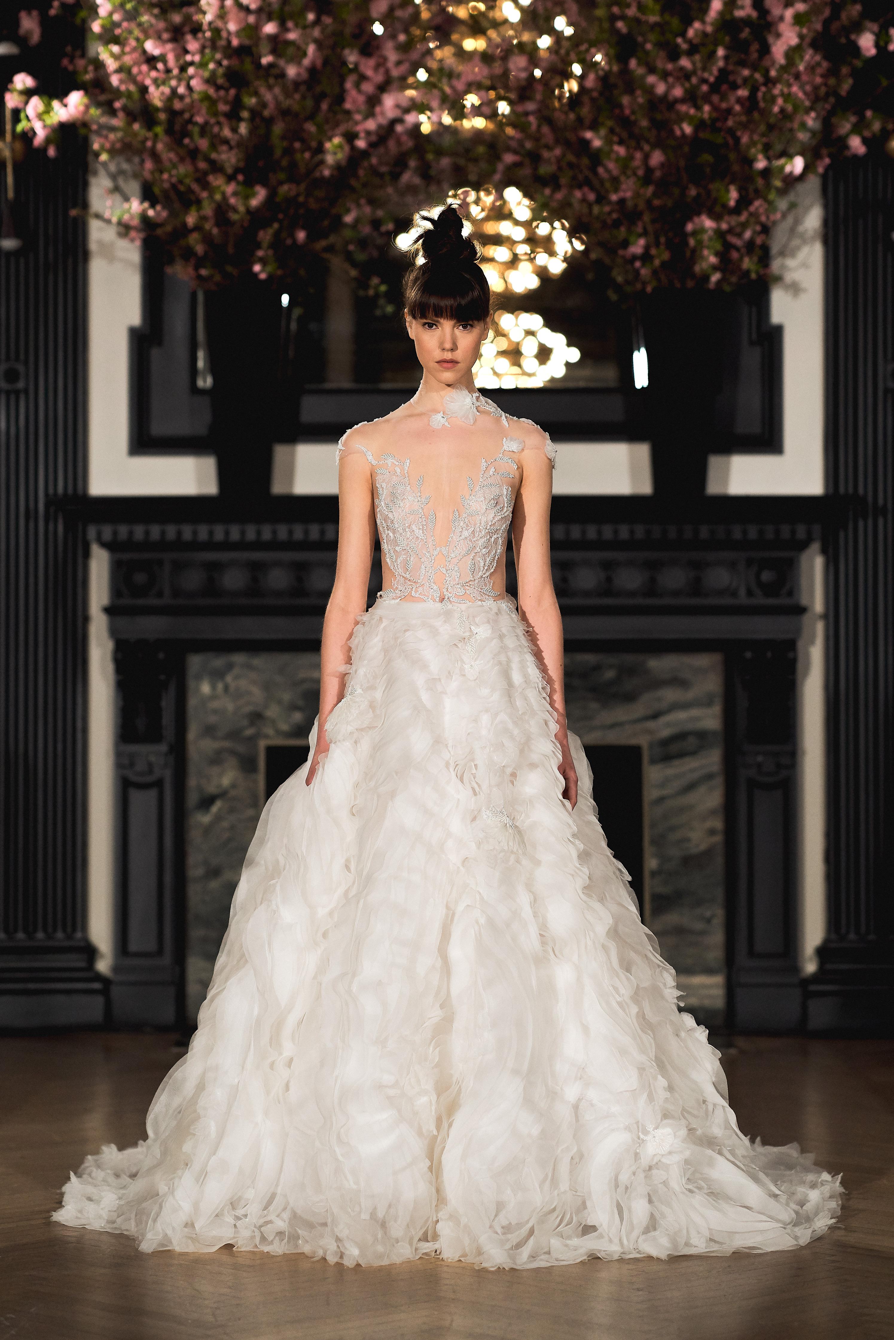 ines di santo wedding dress spring 2019 illusion v-neck