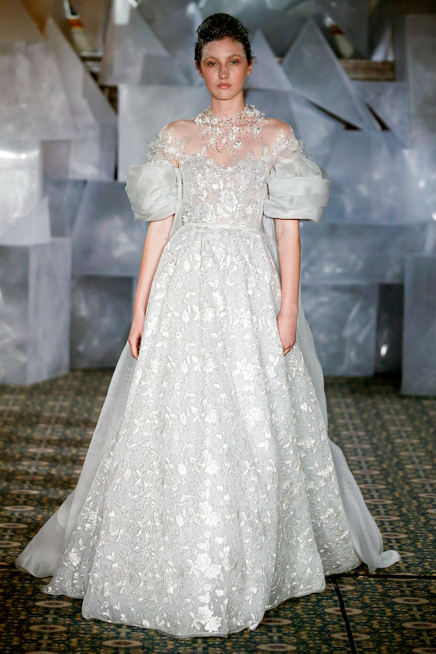 mira zwillinger wedding dress spring 2019 off-the-shoulder pouf sleeves