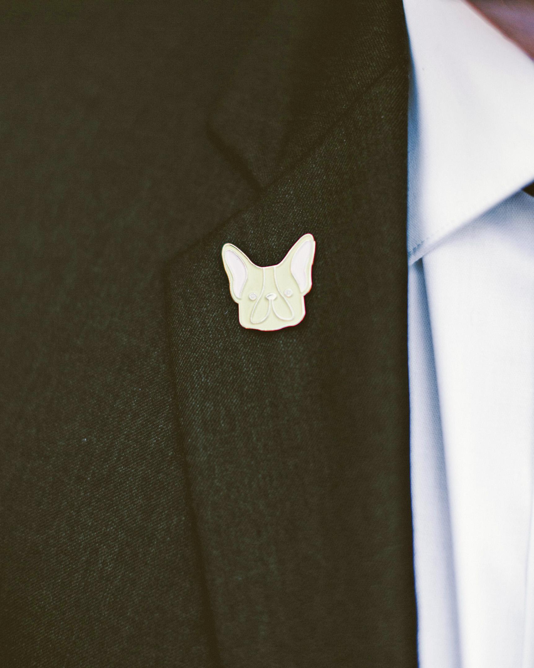 sara ryan wedding philadelphia groom pin