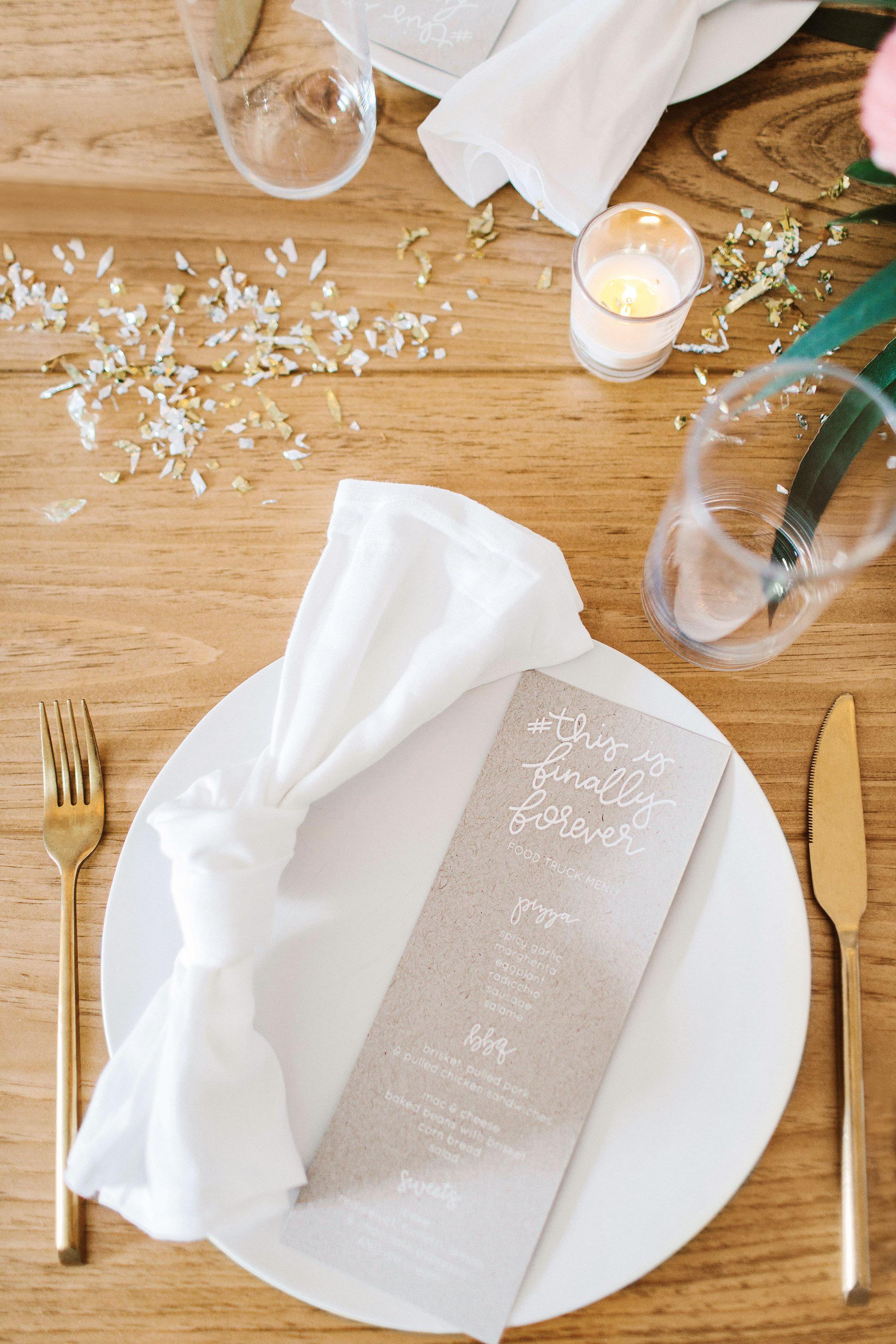 sara ryan wedding philadelphia menus