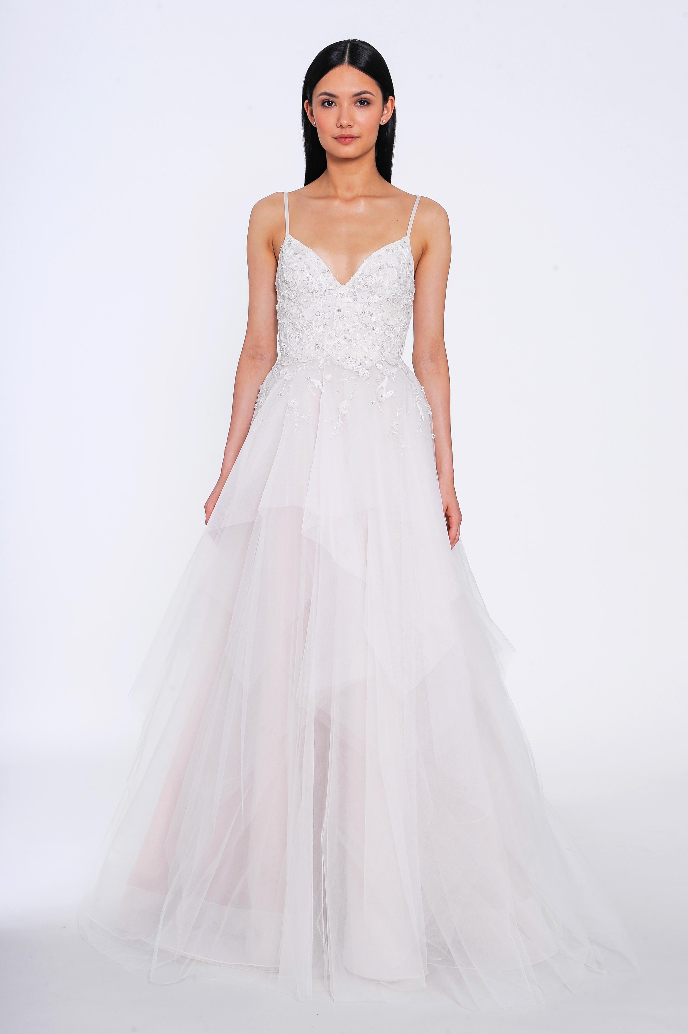 allison webb wedding dress spring 2019 tiered spaghetti strap