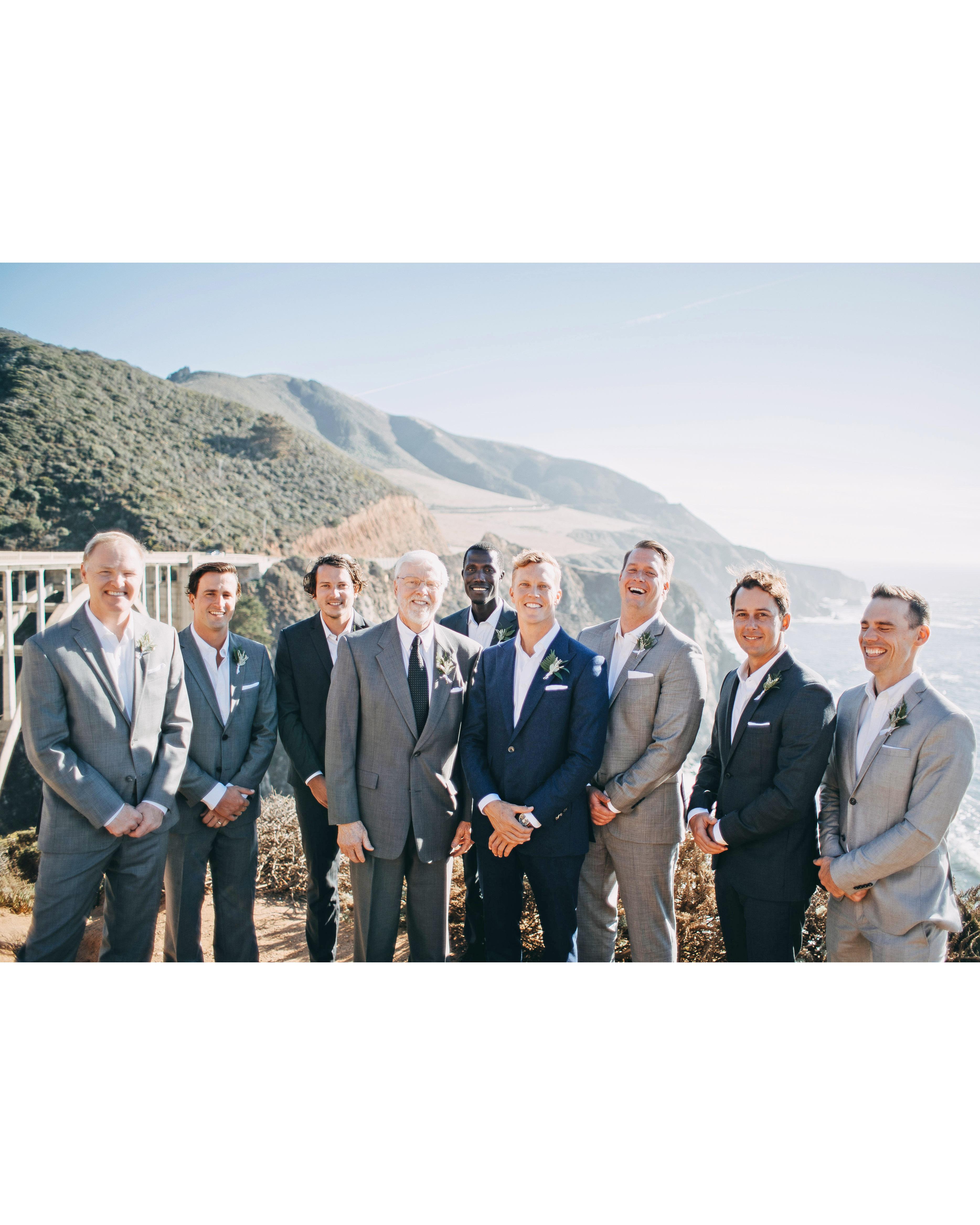 danielle adam wedding groom groomsmen