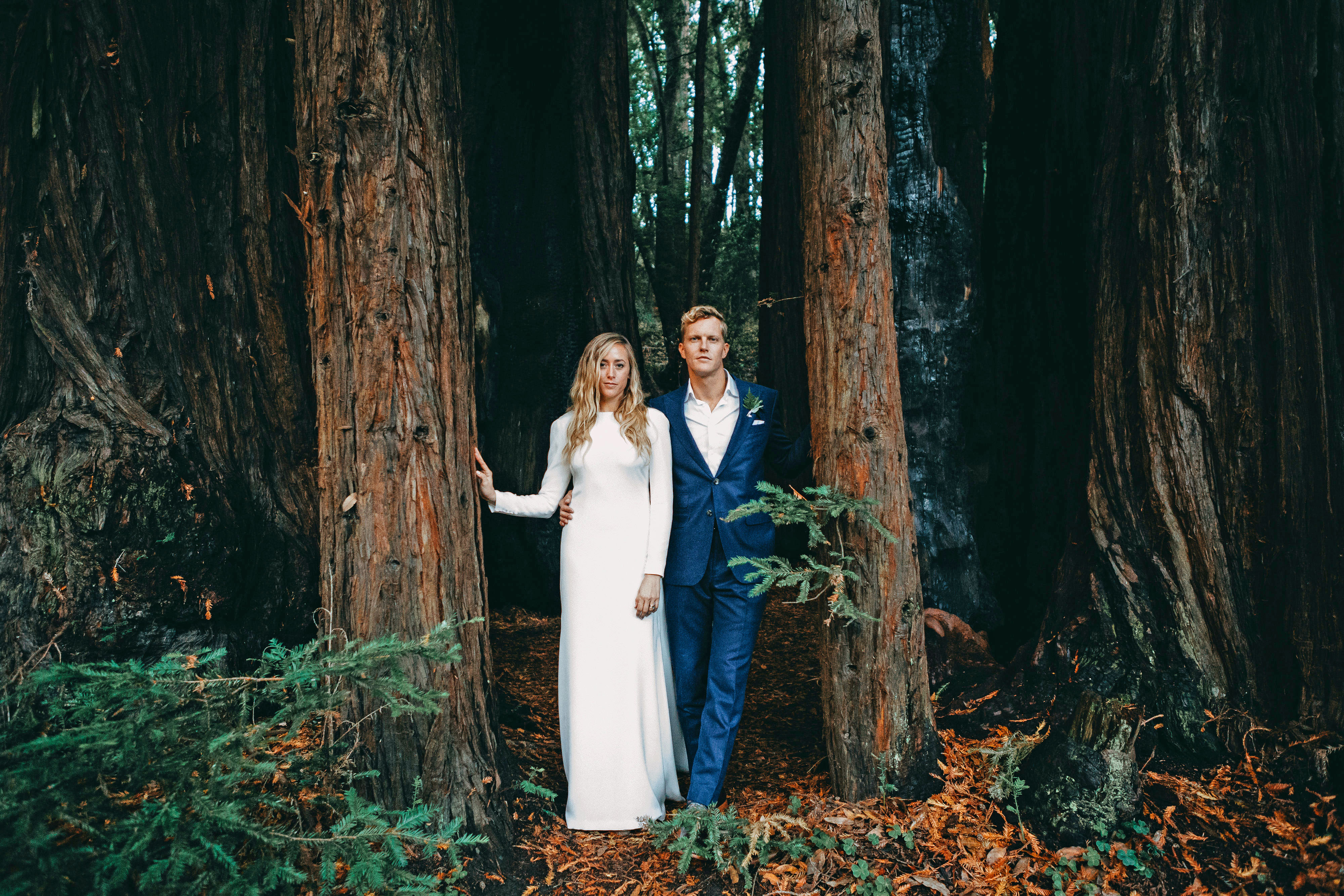 danielle adam wedding couple in woods