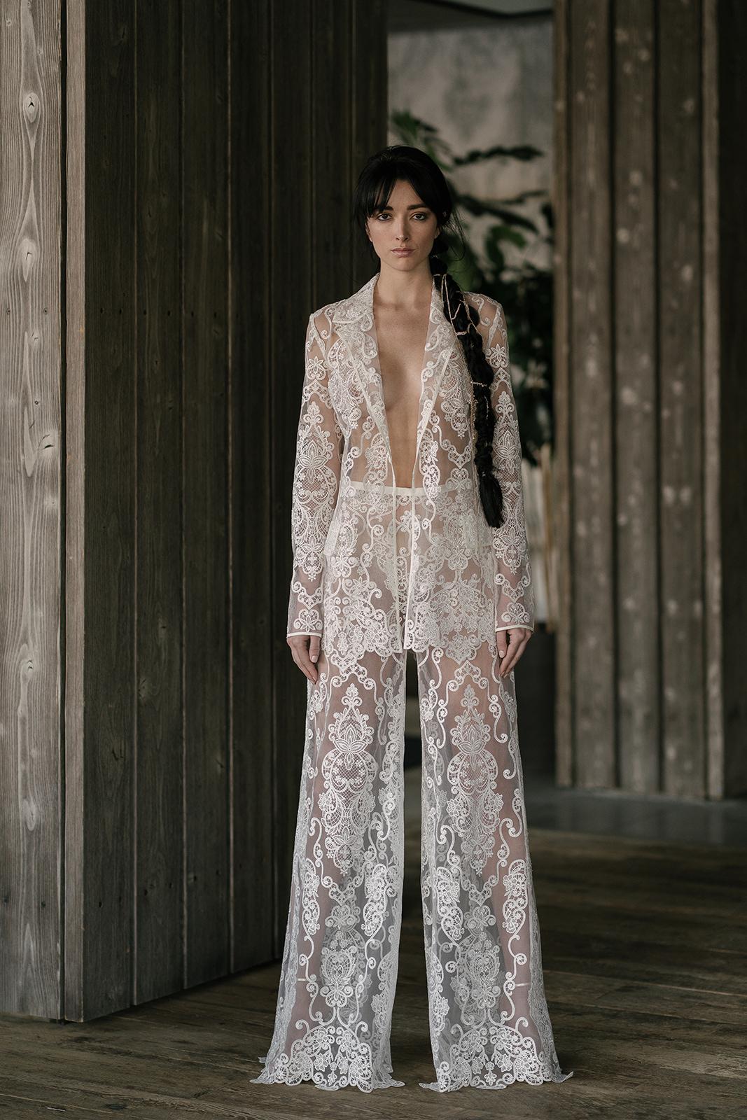 rivini by rita vinieris spring 2019 lace wedding jumpsuit