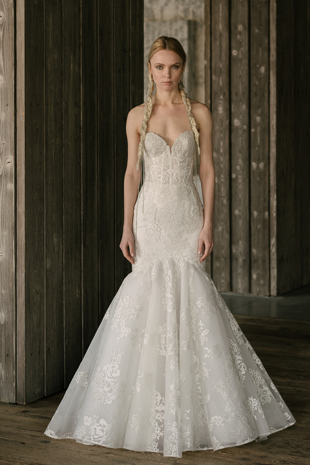 rivini by rita vinieris spring 2019 trumpet lace wedding dress