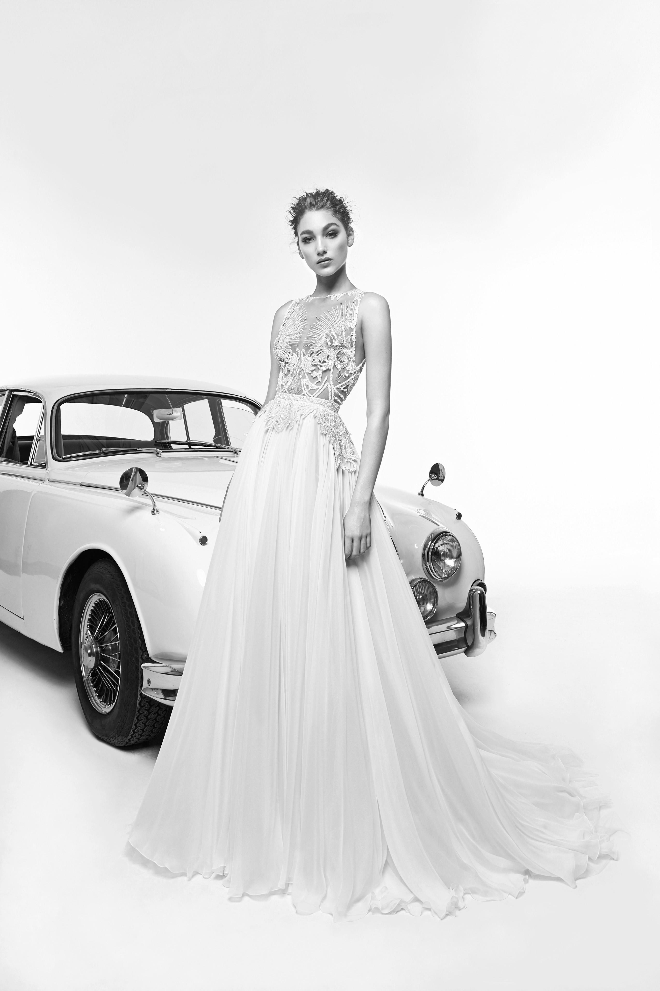 zuhair murad wedding dress spring 2019 high neck a-line