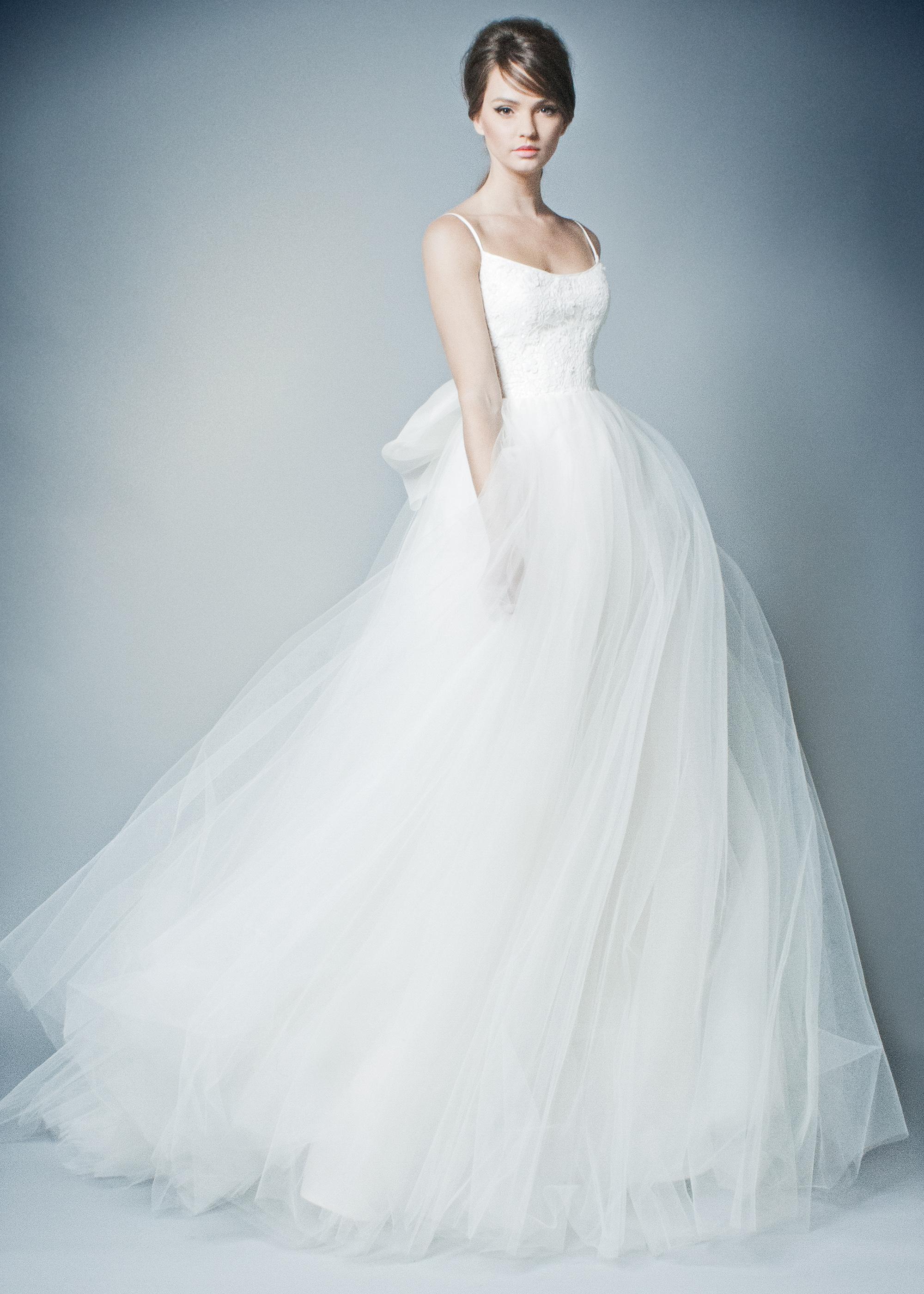 romona wedding dress spring 2019 tulle ballgown with spaghetti straps