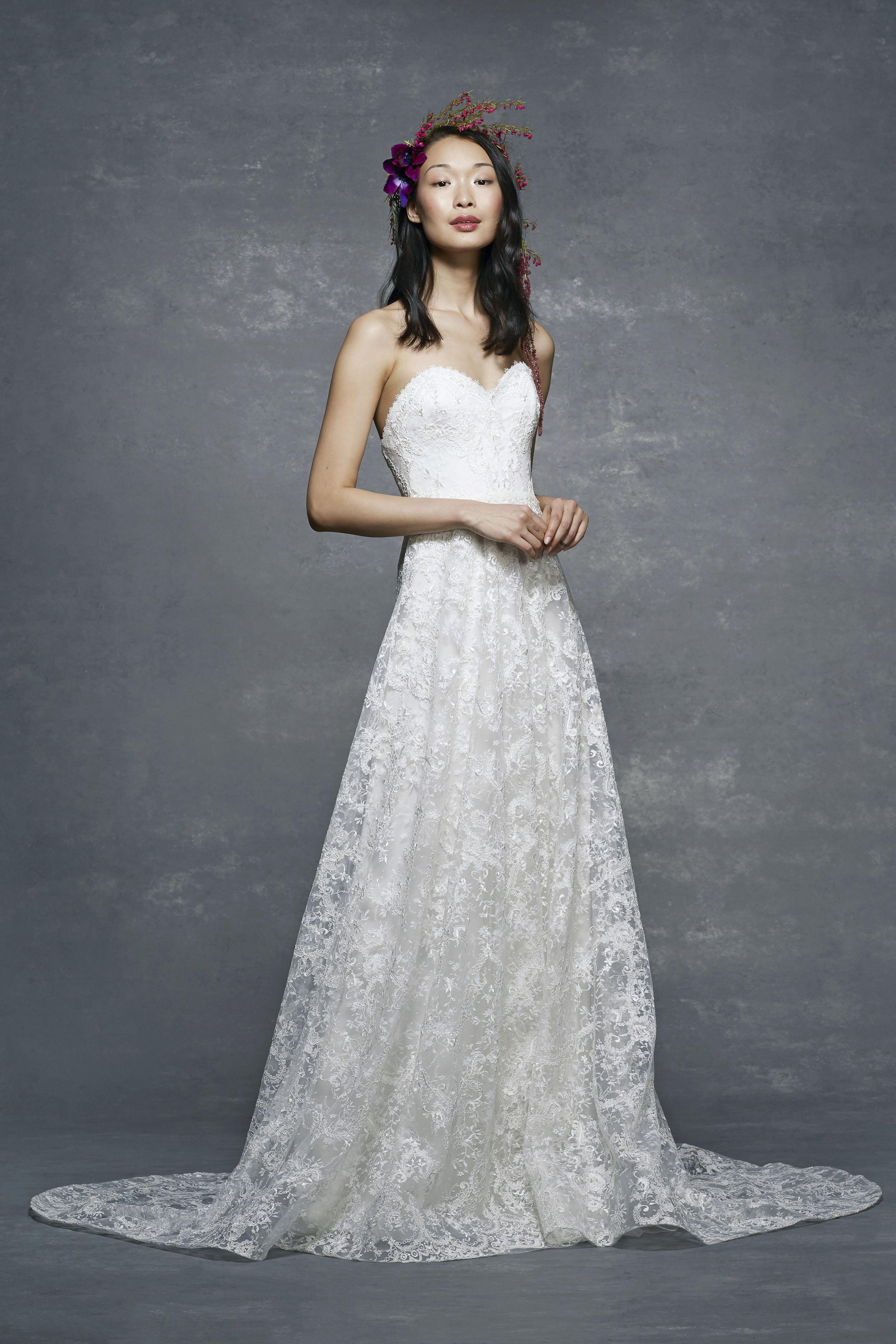 marchesa notte bridal wedding dress sweetheart a-line