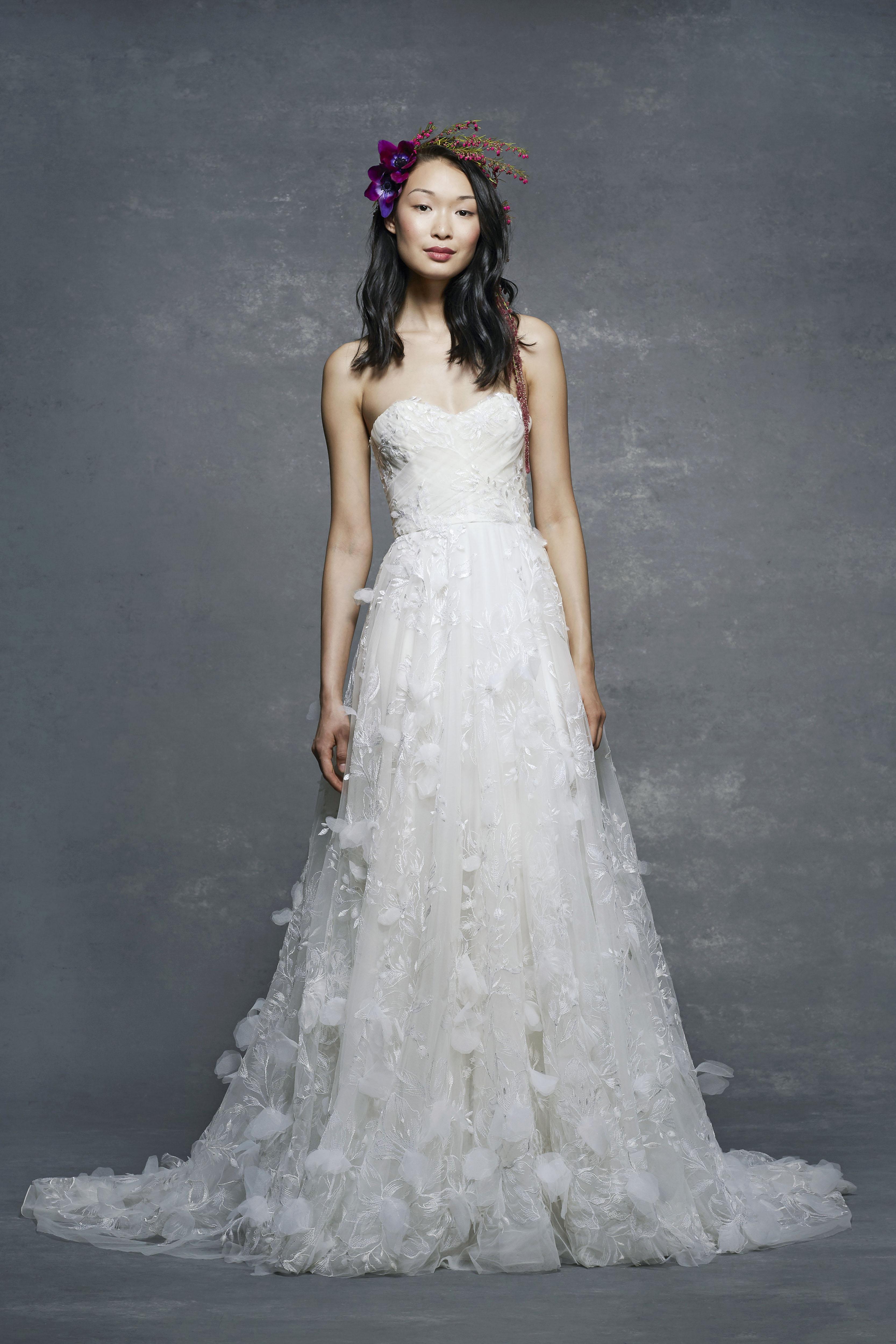 marchesa notte bridal wedding dress off-the-shoulder sweetheart