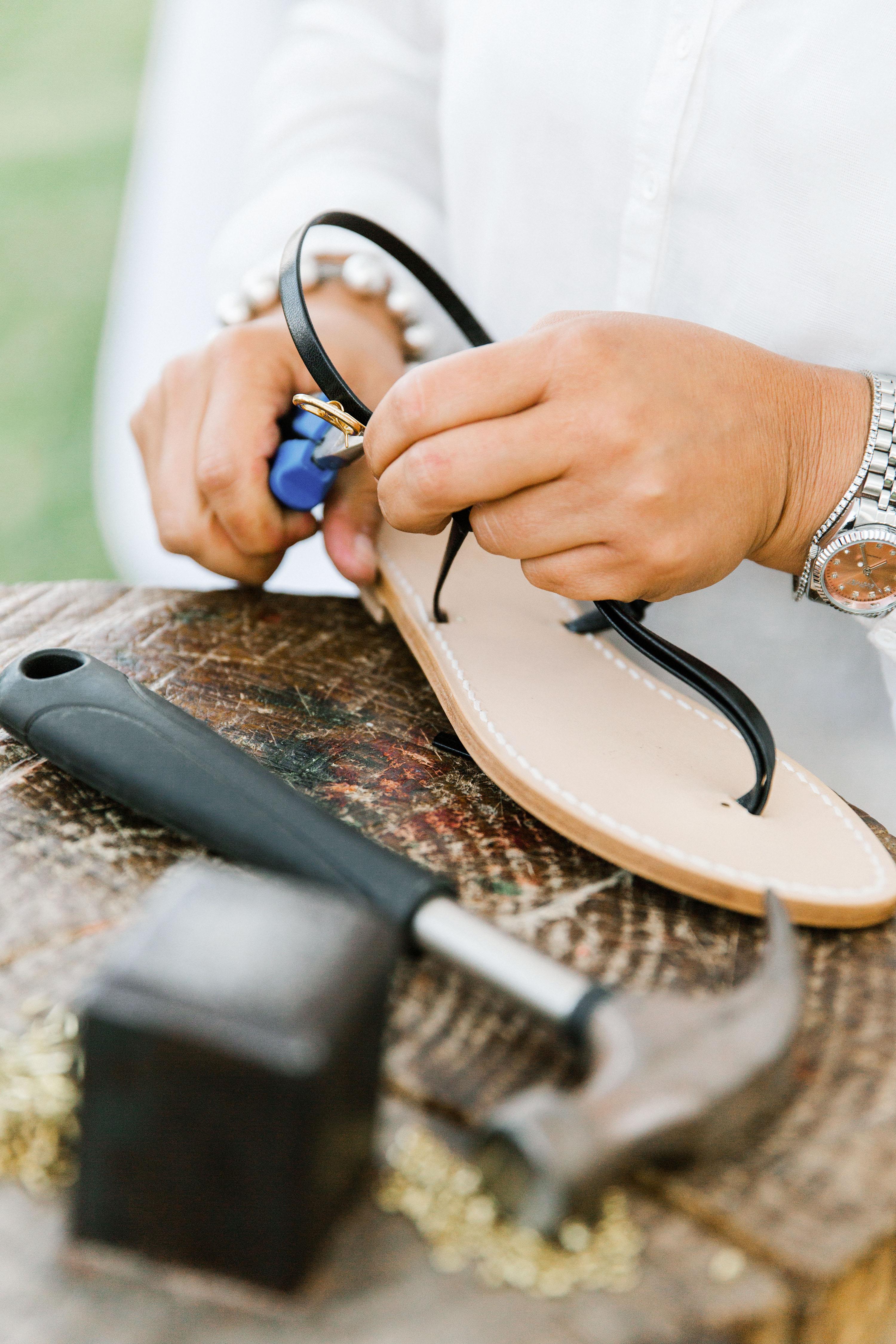 lisa greg italy wedding cobbler shoes fix repair