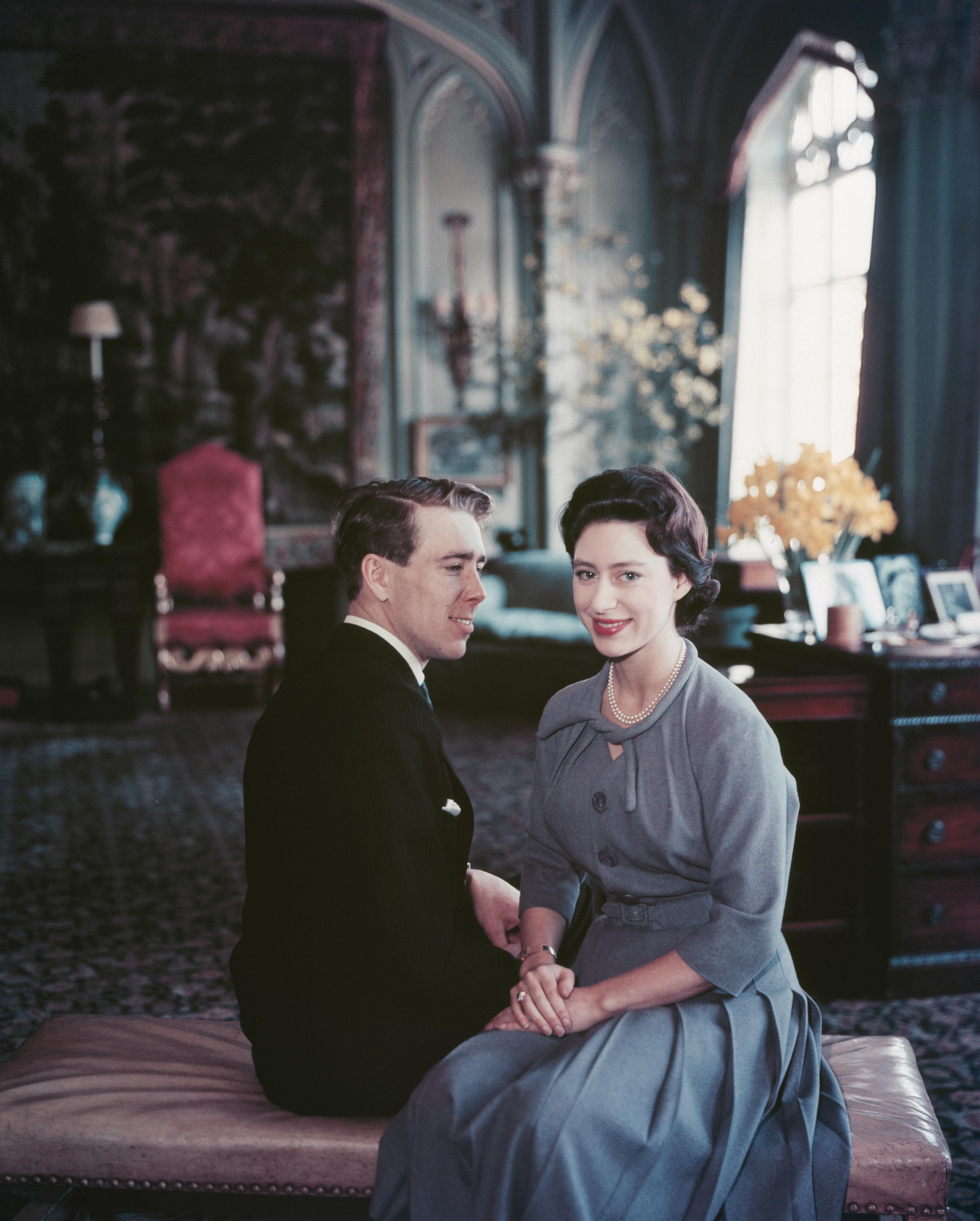 Princess Margaret and Antony Armstrong-Jones engagement photo
