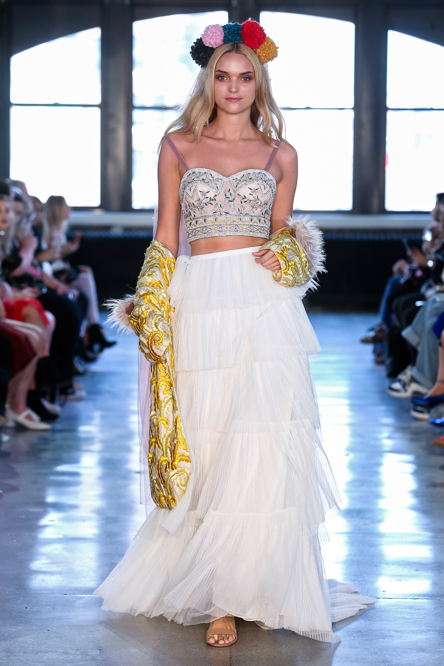 willowby watters wedding dress spring 2019 corseted top tiered skirt separates