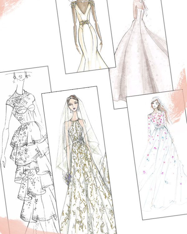Spring 2019 Bridal Fashion Week Sketch Gallery Intro
