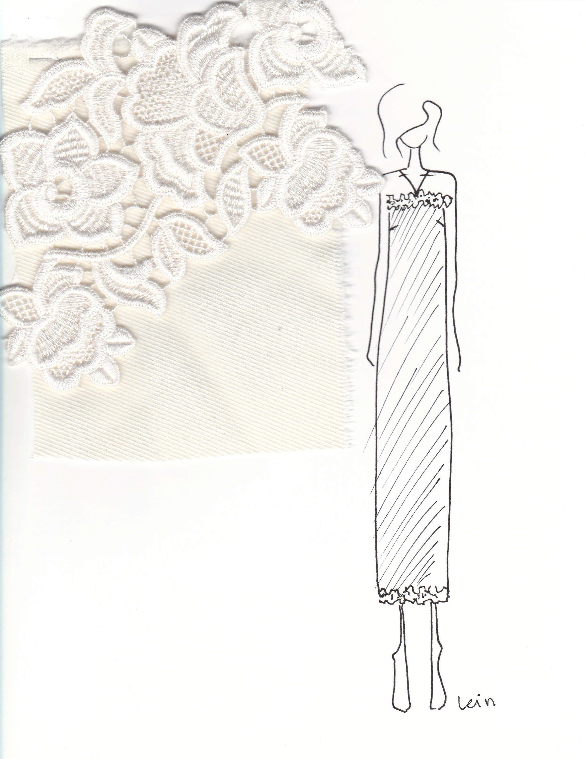 lein wedding dress sketch