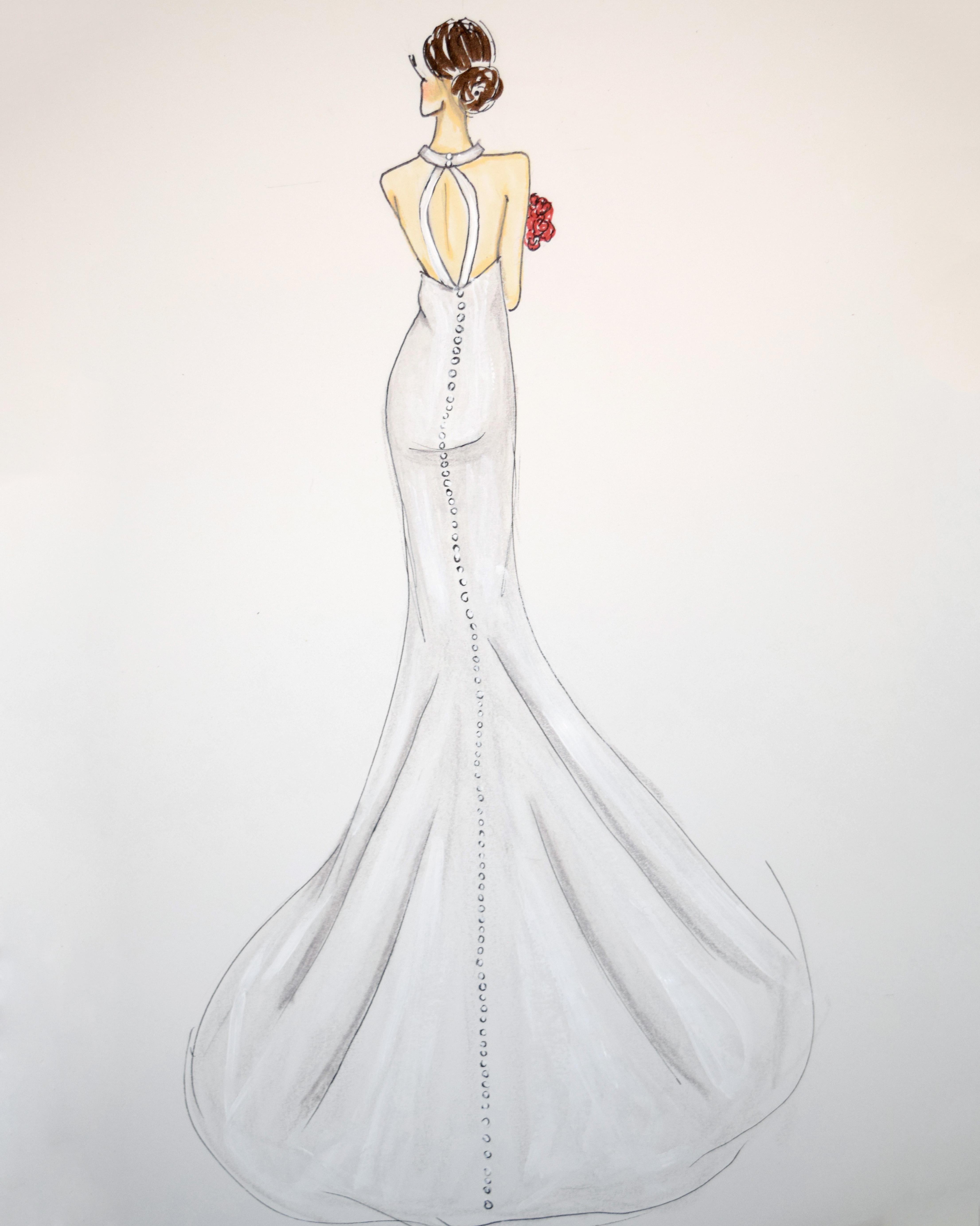 liancarlo wedding dress sketch