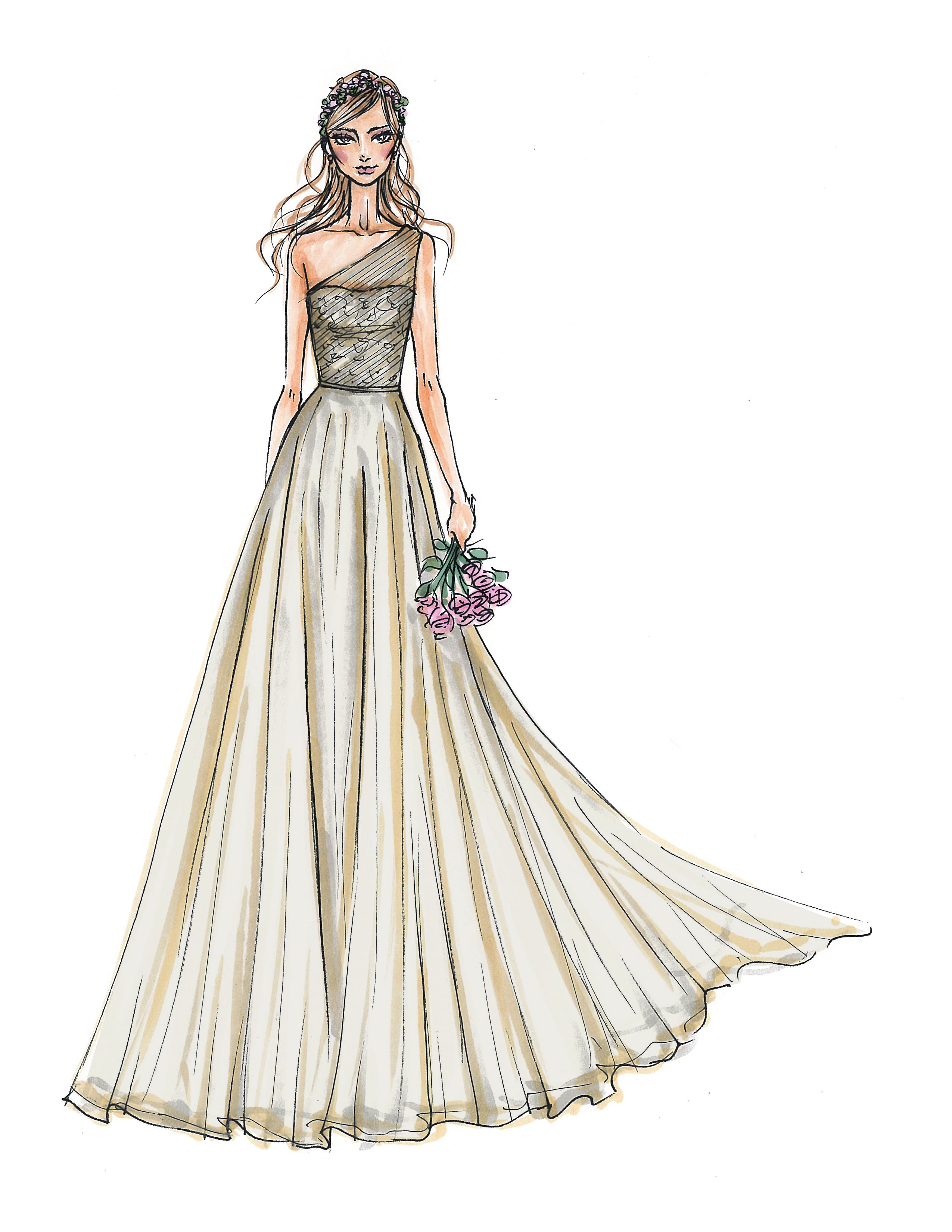 melissa sweet wedding dress sketch