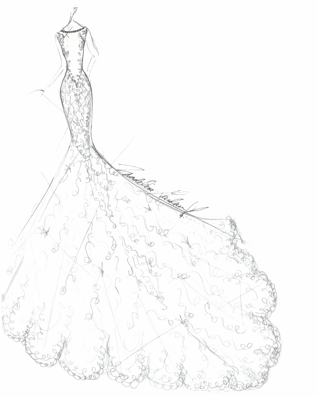 morilee wedding dress sketch